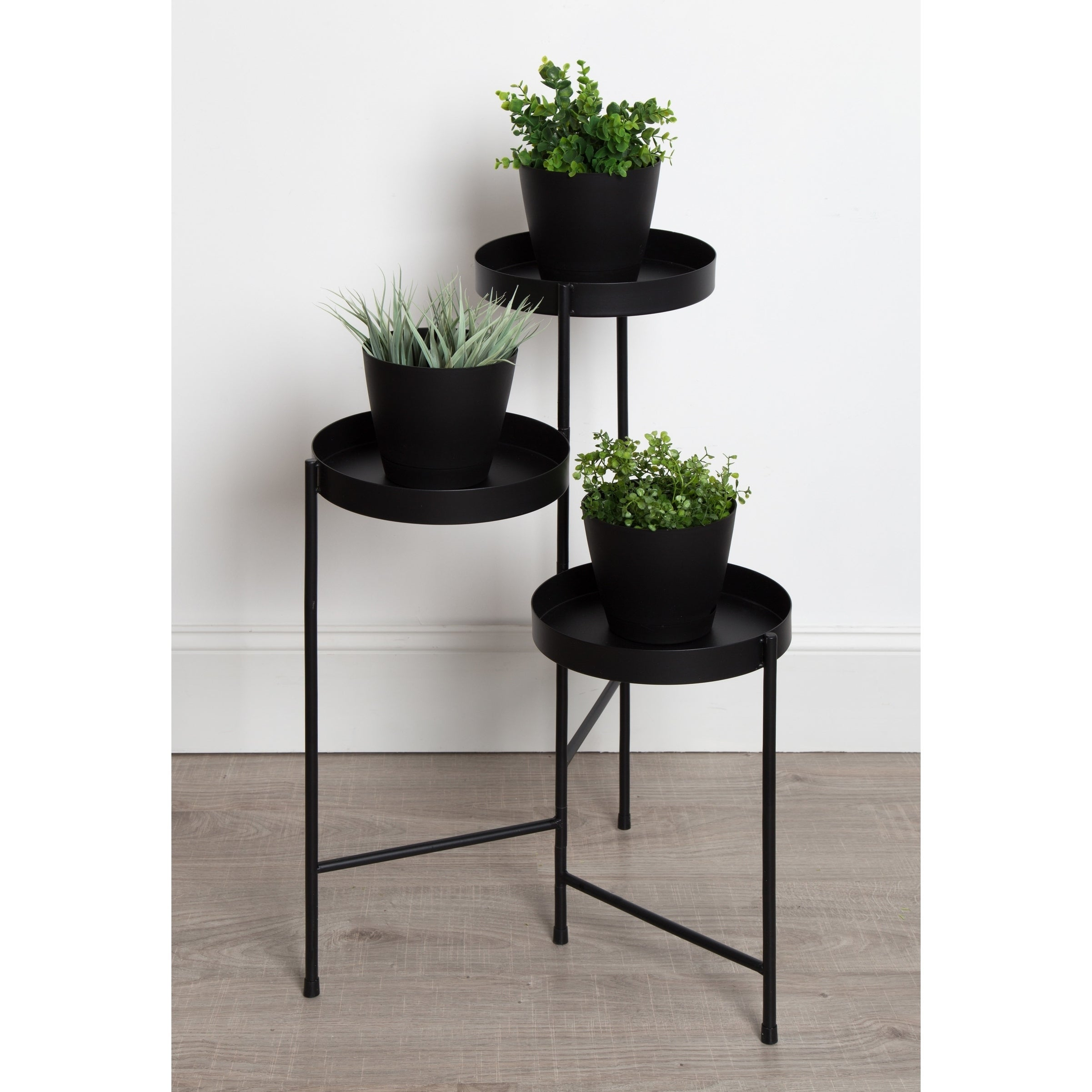 Shop Kate And Laurel Finn Tri Level Metal Plant Stand On Sale