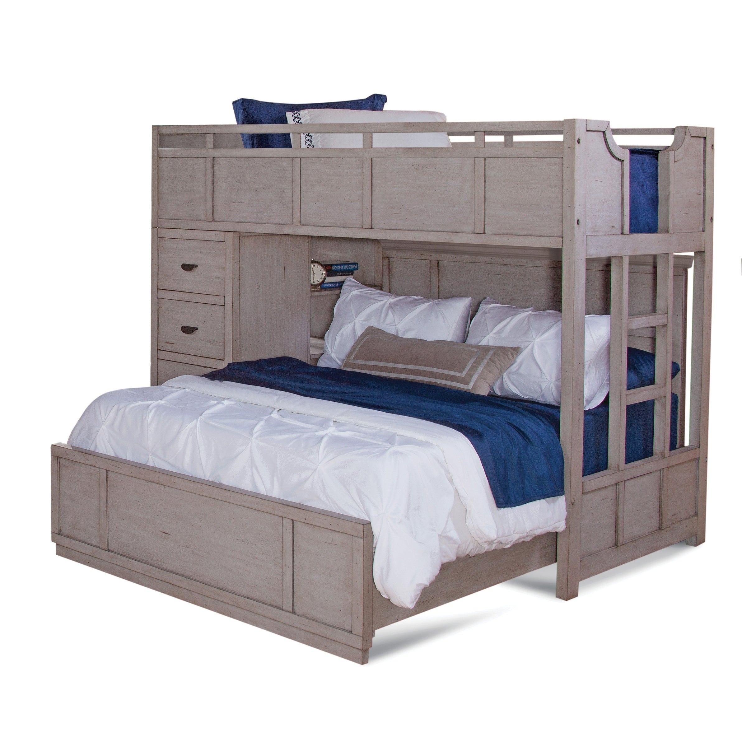 Parker Driftwood Twin over Full Loft Bed by Greyson Living - Free ...