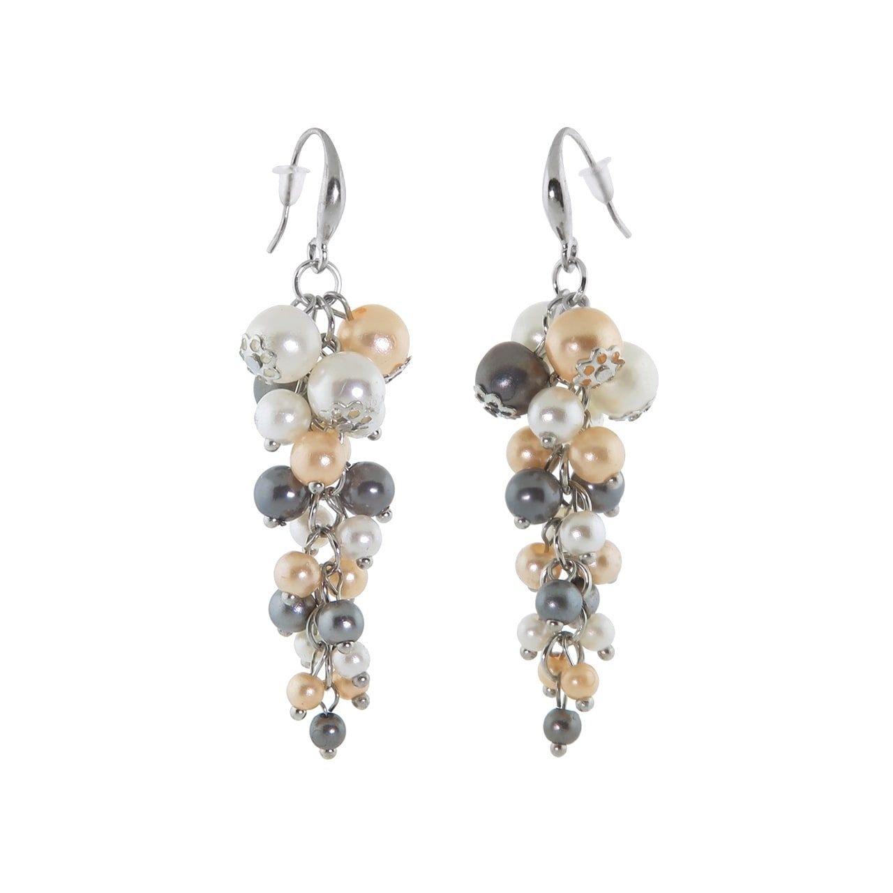Eternally Haute Tri Colored Pearl Drop Earrings On Free Shipping Orders Over 45 20717419