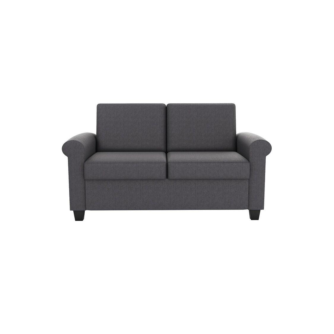 Dhp Logan Grey Linen Sleeper Sofa On Free Shipping Today 20717521