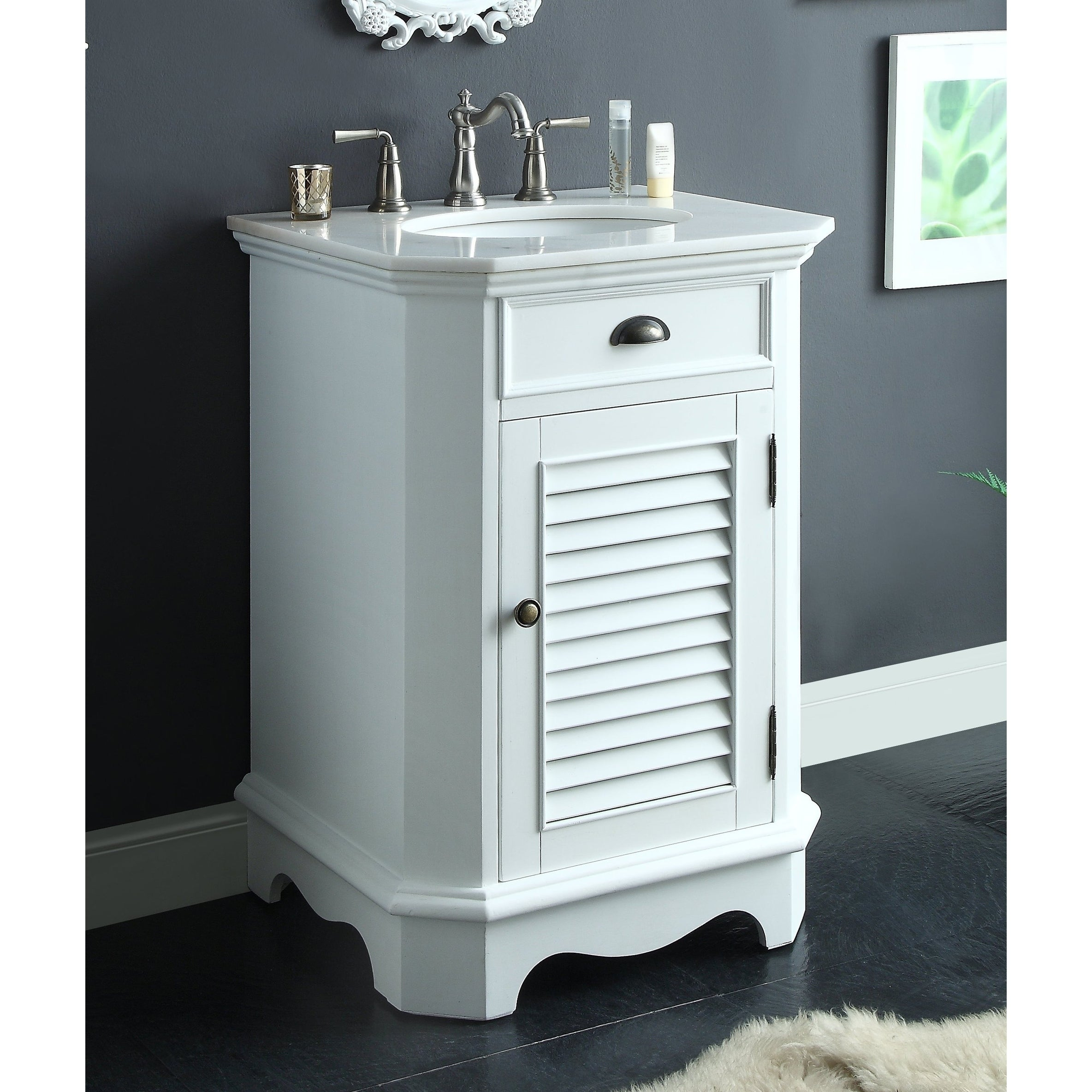 Shop 24 benton collection abbeville white vintage rustic sink vanity w bs free shipping today overstock com 20718351