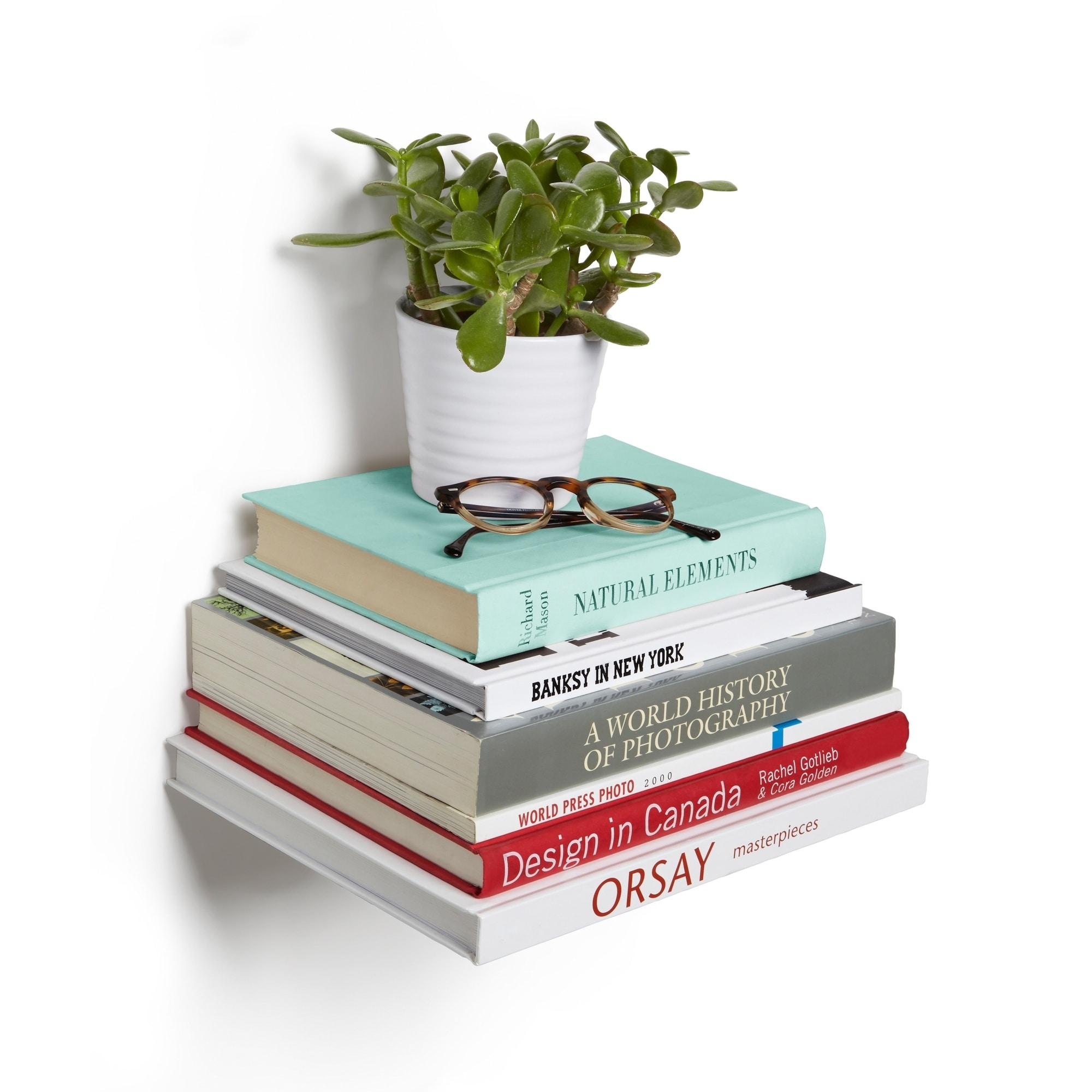 Shop Umbra Conceal Silver Shelf Large Set Of 3
