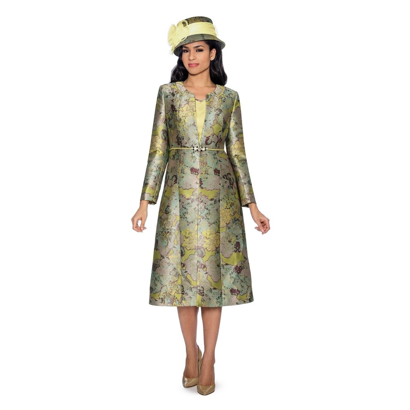 Shop Giovanna Collection Women S Art Of Brocade 2 Piece Long Coat