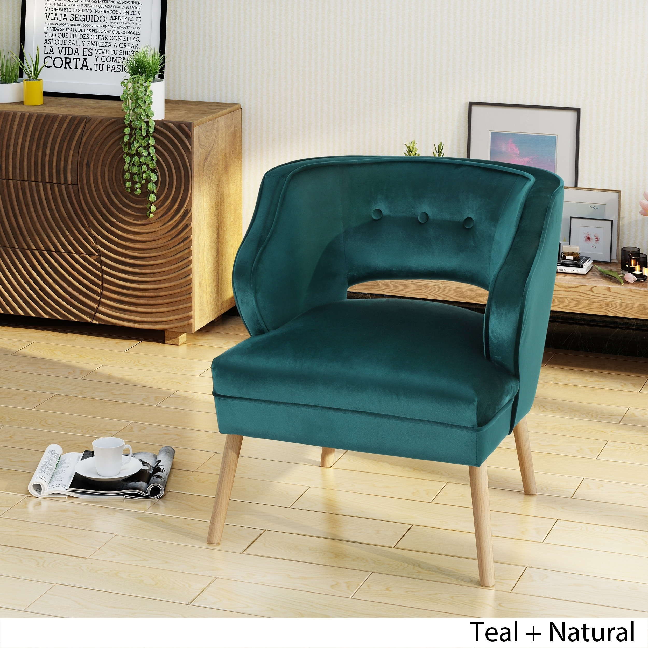 Mariposa Mid Century Velvet Accent Chair By Christopher Knight Home On Free Shipping Today 20727370