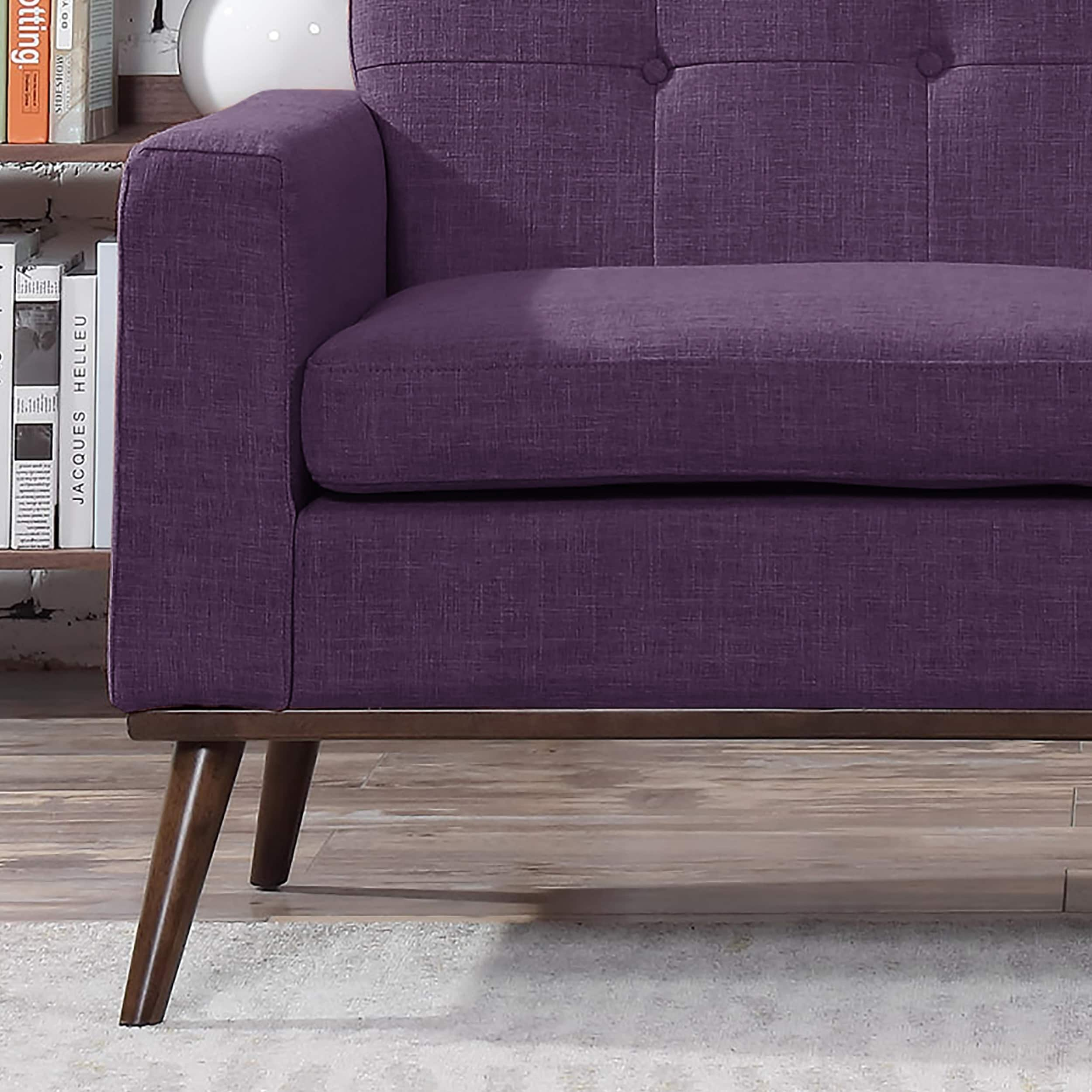 3cc6f27764240 Shop Stormi Mid Century Modern Fabric Loveseat by Christopher Knight Home -  On Sale - Ships To Canada - Overstock - 20727417