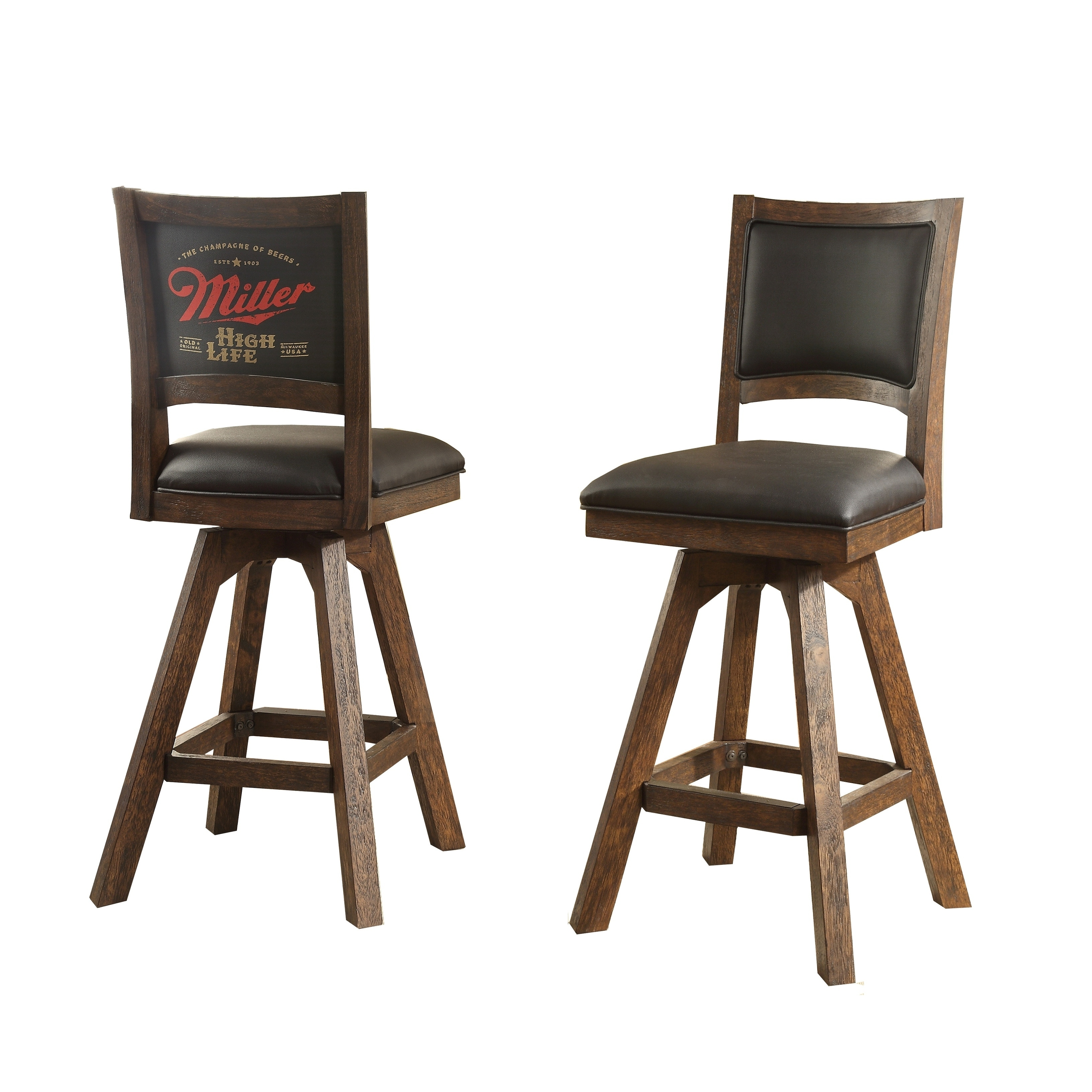 Miller High Life Barstool with Armless (Standard Logo) - N/A - Free ...