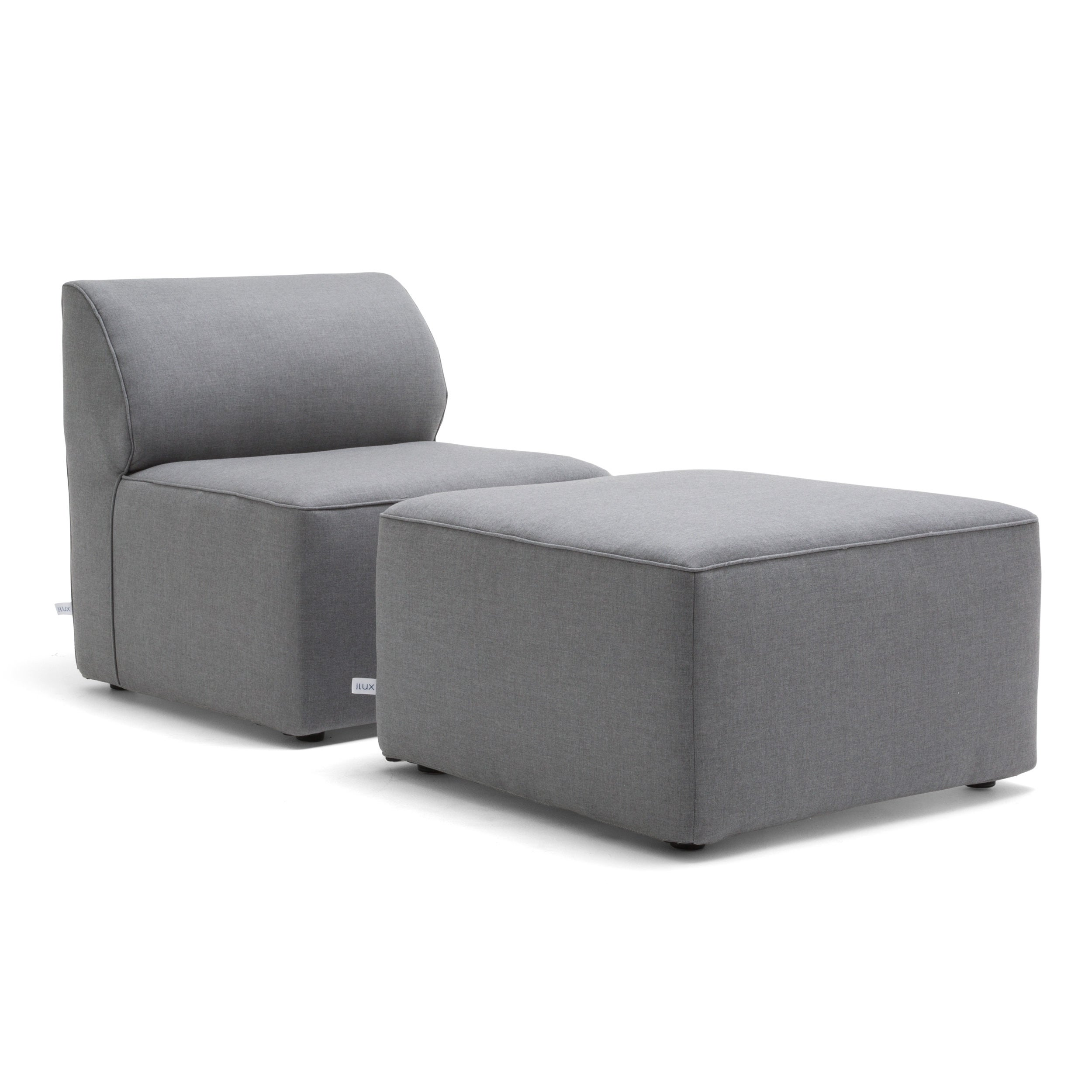 Shop Big Joe Orahh Grey Sunbrella Modular Outdoor Lounge Chair And Ottoman  Set   Free Shipping Today   Overstock.com   20731369
