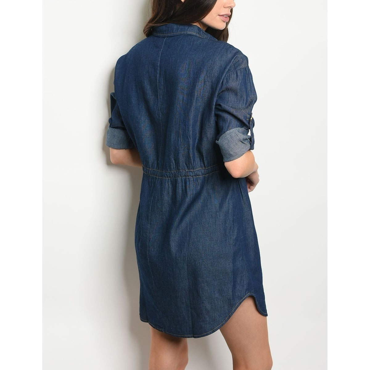 4d6bfbbc Shop JED Women's Button Down Denim Tunic Shirt Dress - Free Shipping On  Orders Over $45 - Overstock - 20731642