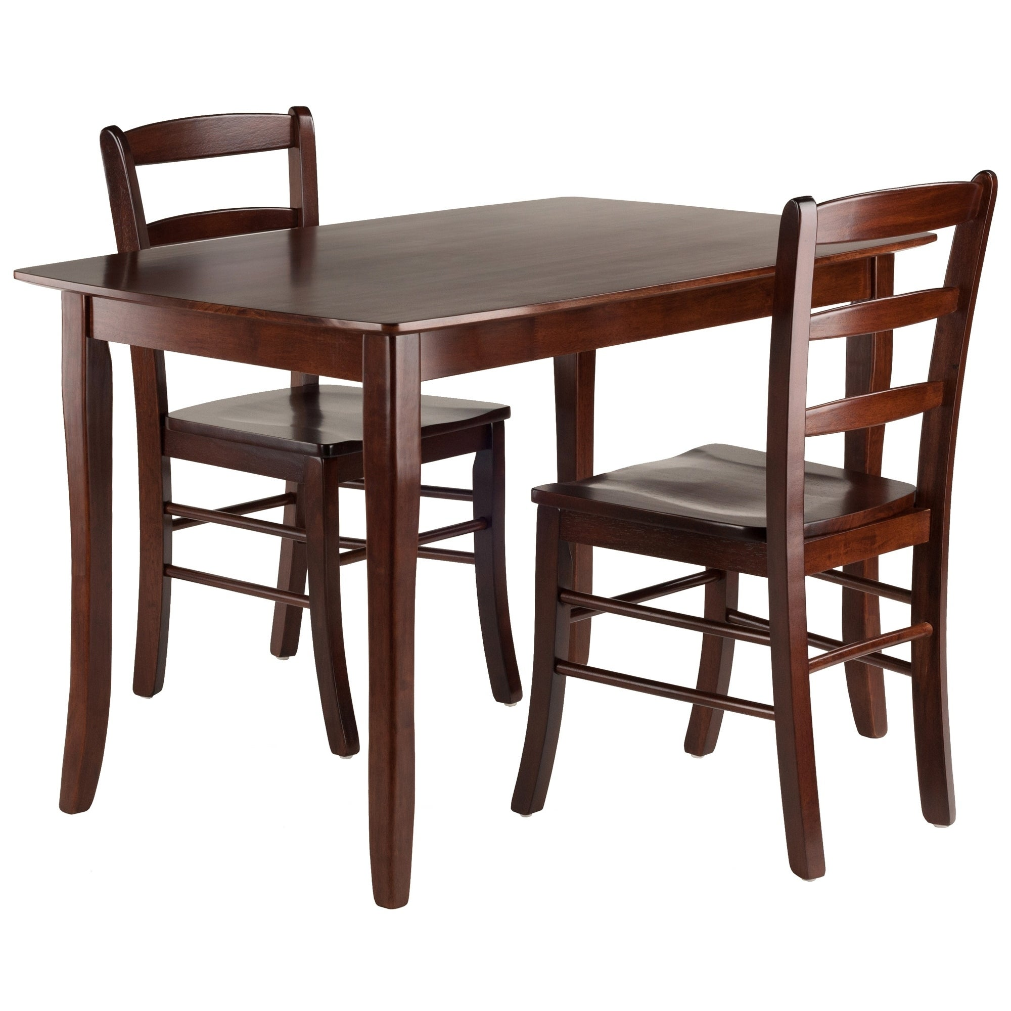 Inglewood 3 Pc Set Dining Table W 2 Ladderback Chairs