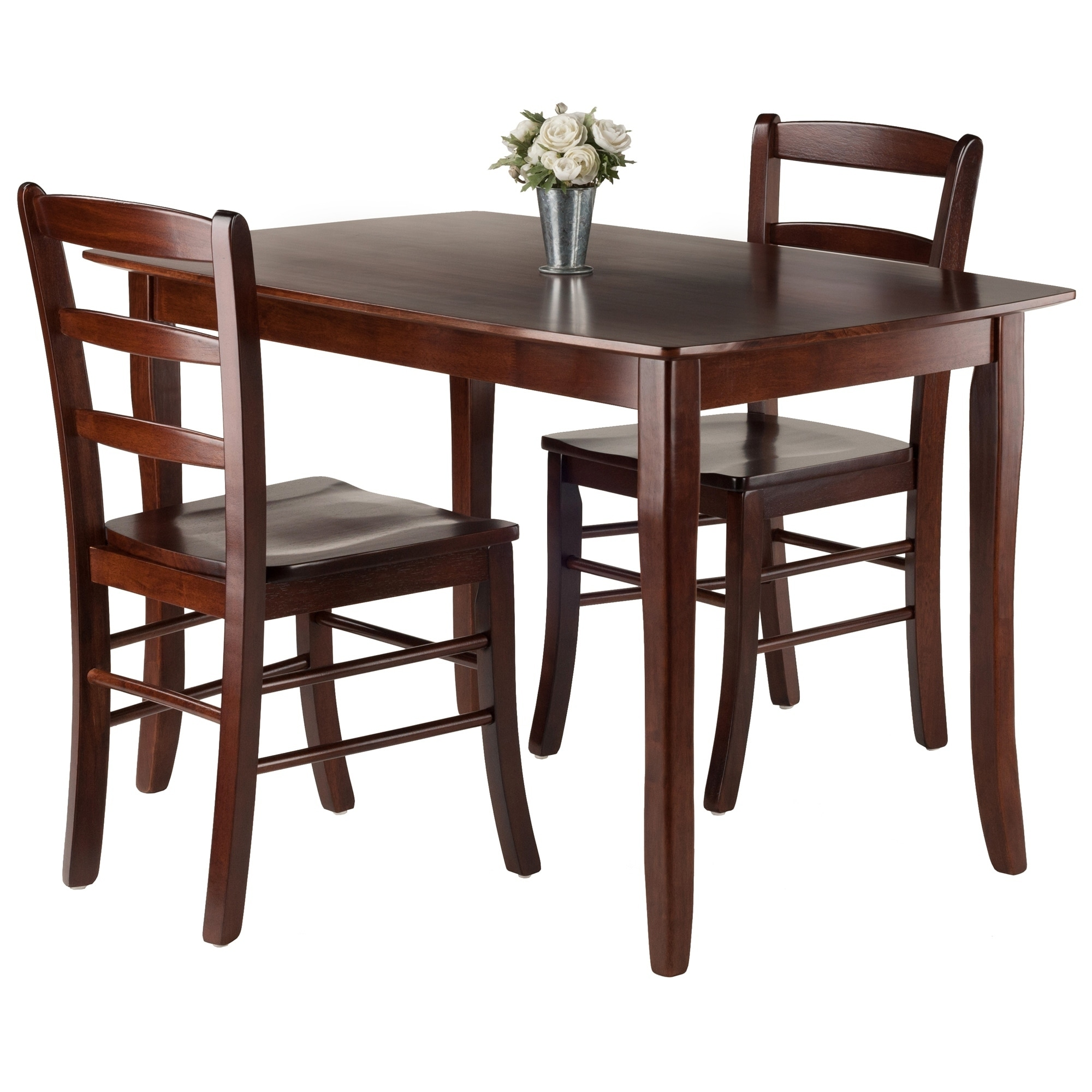 e89bd0a19de51 Shop Inglewood 3-PC Set Dining Table w/ 2 Ladderback Chairs - Free Shipping  Today - Overstock - 20735368