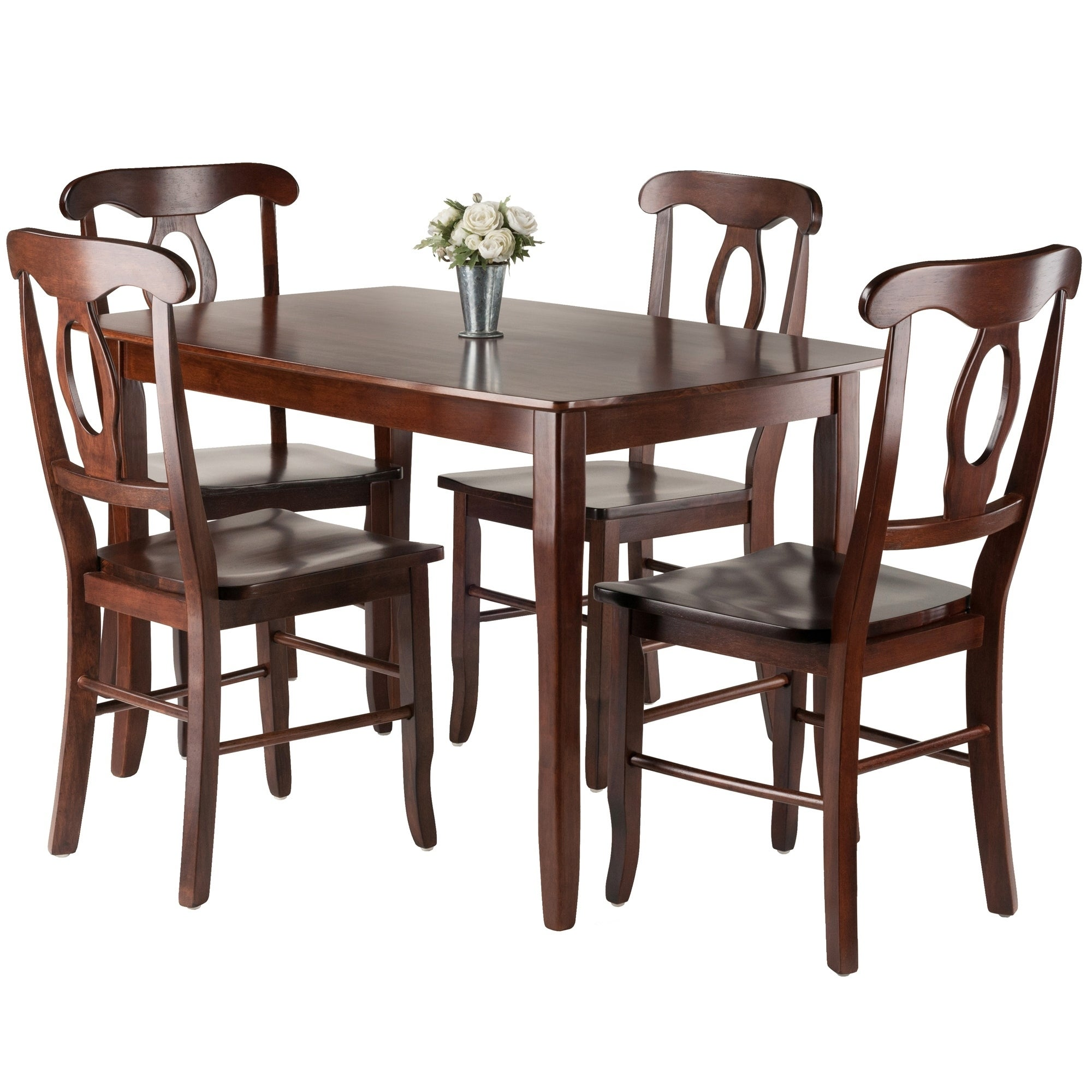 2a52a973eb9d8 Shop Inglewood 5-PC Set Dining Table w/ 4 Key Hole Back Chairs - Free  Shipping Today - Overstock - 20735422