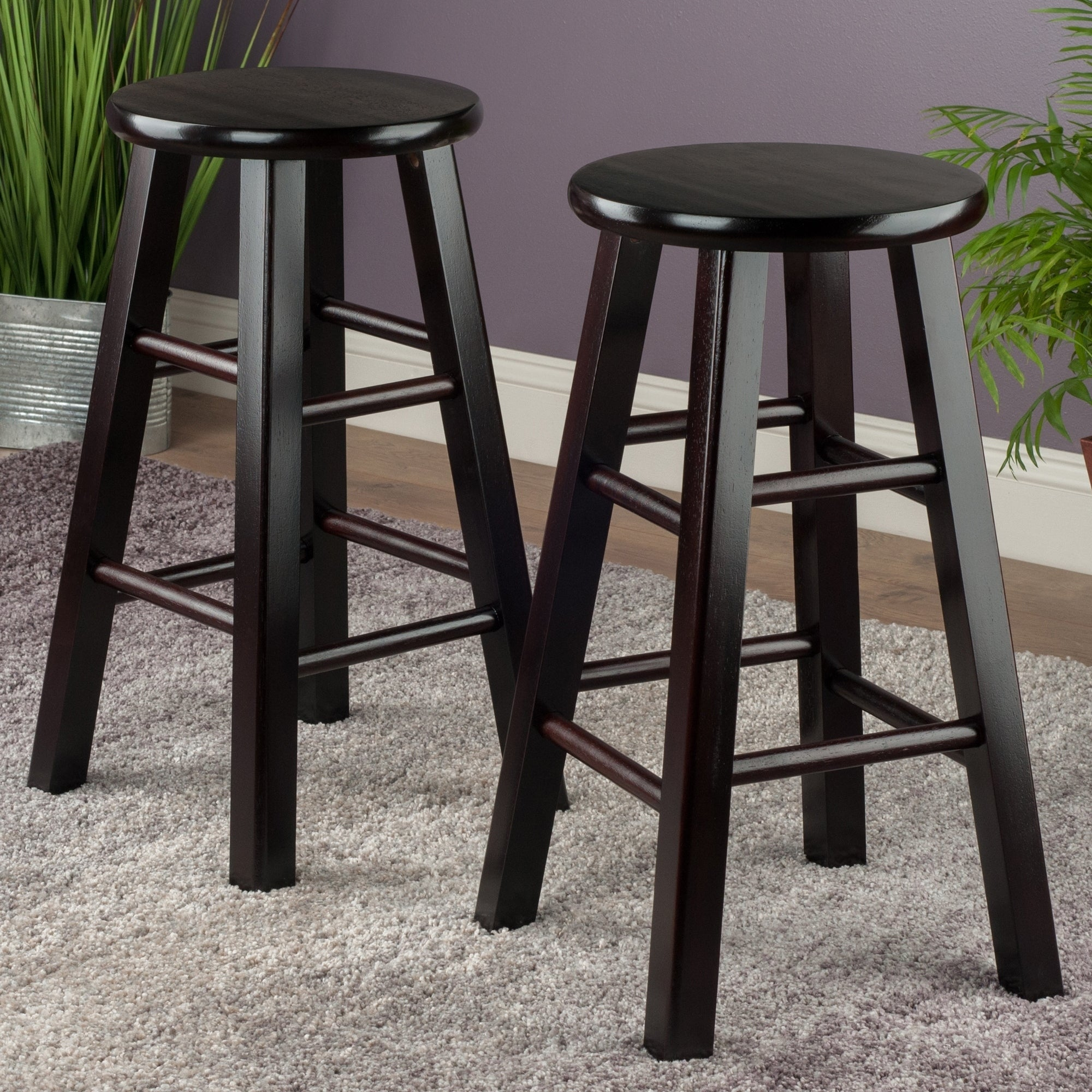 Shop Pacey 2 Pc 24 Bar Stool Set Espresso Free Shipping Today
