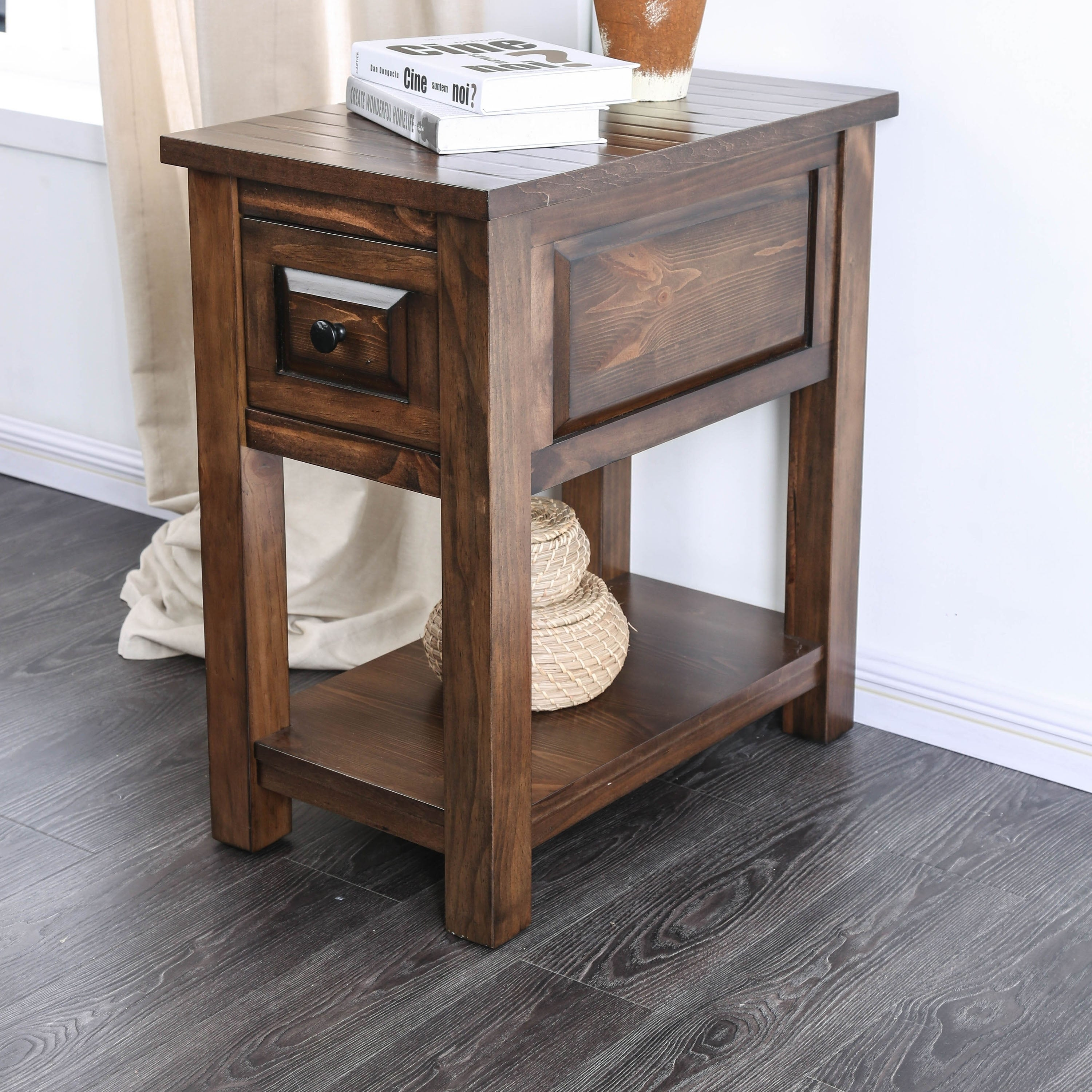 Attrayant Shop Arlington Rustic Walnut Side Table By FOA   On Sale   Free Shipping  Today   Overstock   20735743
