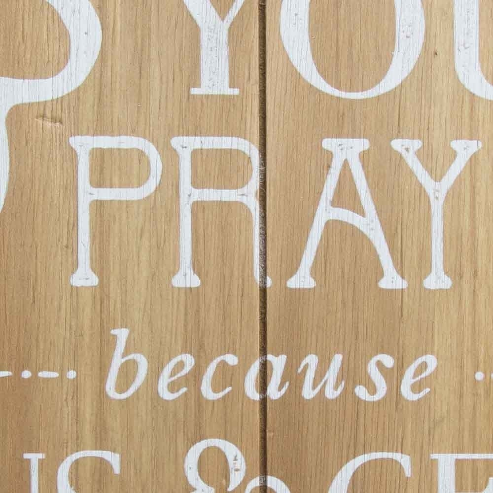 Stratton Home Decor Wash Your Hands, Say Your Prayers Bath Wall Art - Brown