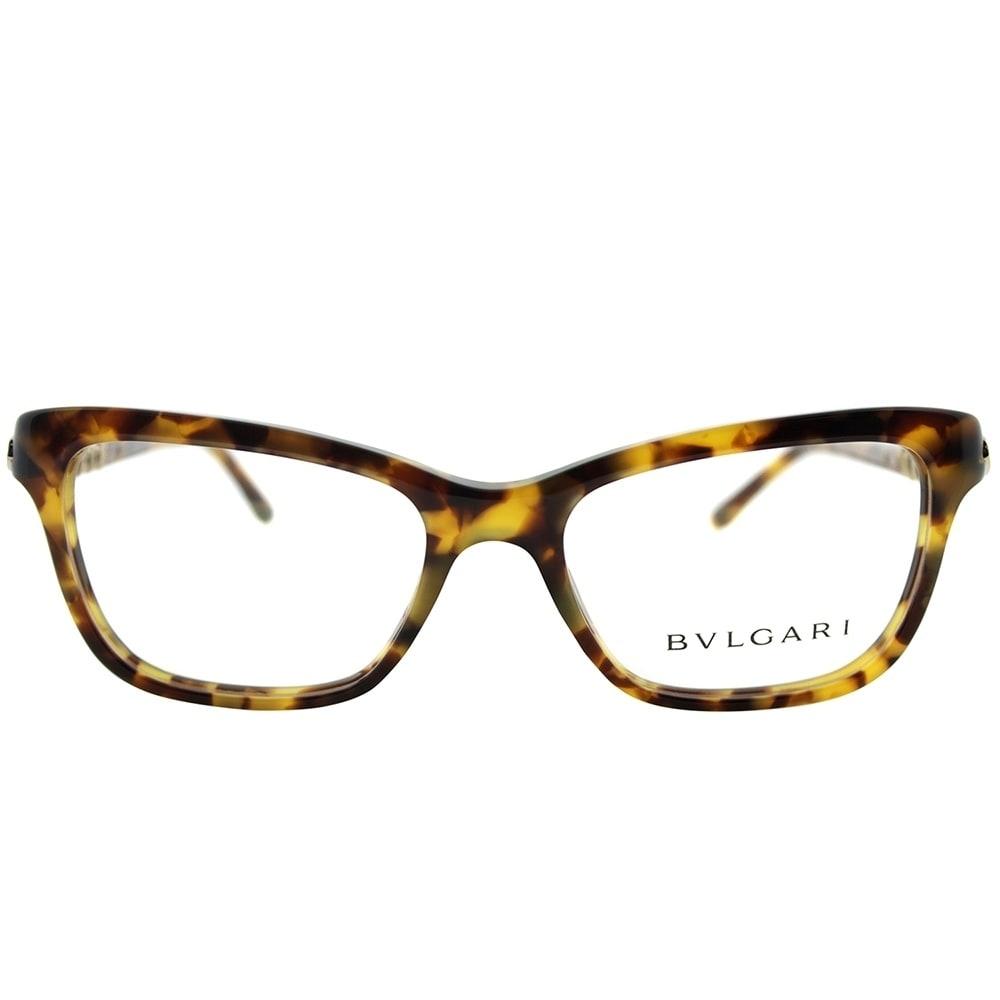 Bvlgari Rectangle BV 4088B 3516 Women Havana Frame Eyeglasses - Free ...