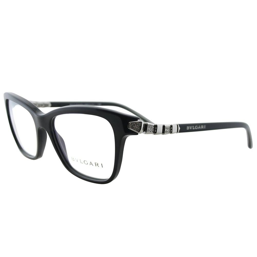 c29306ebd5 Shop Bvlgari Rectangle BV 4088B 501 Women Black Frame Eyeglasses - On Sale  - Free Shipping Today - Overstock.com - 20738867