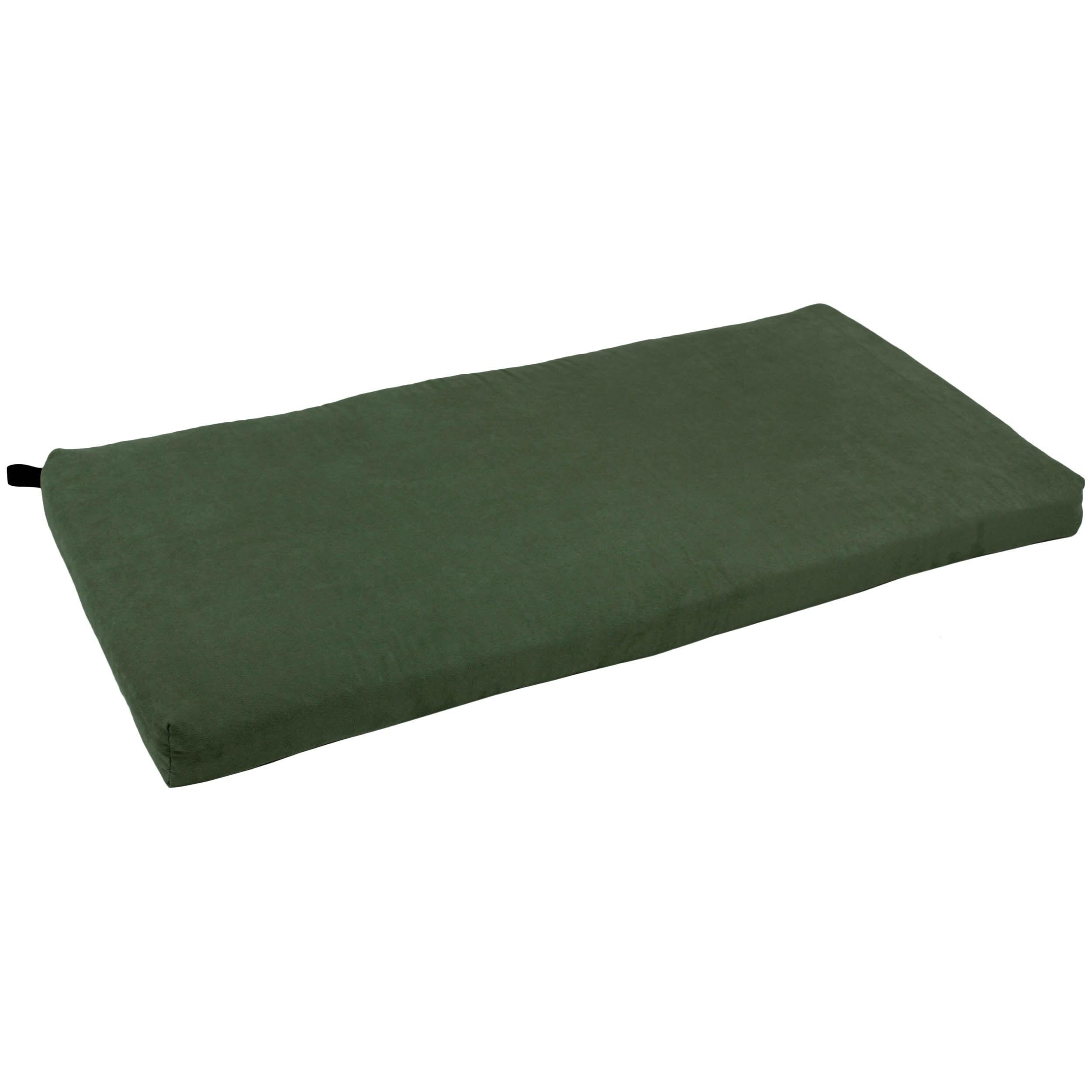 Shop Blazing Needles 45 Inch Indoor Microsuede Bench Cushion On