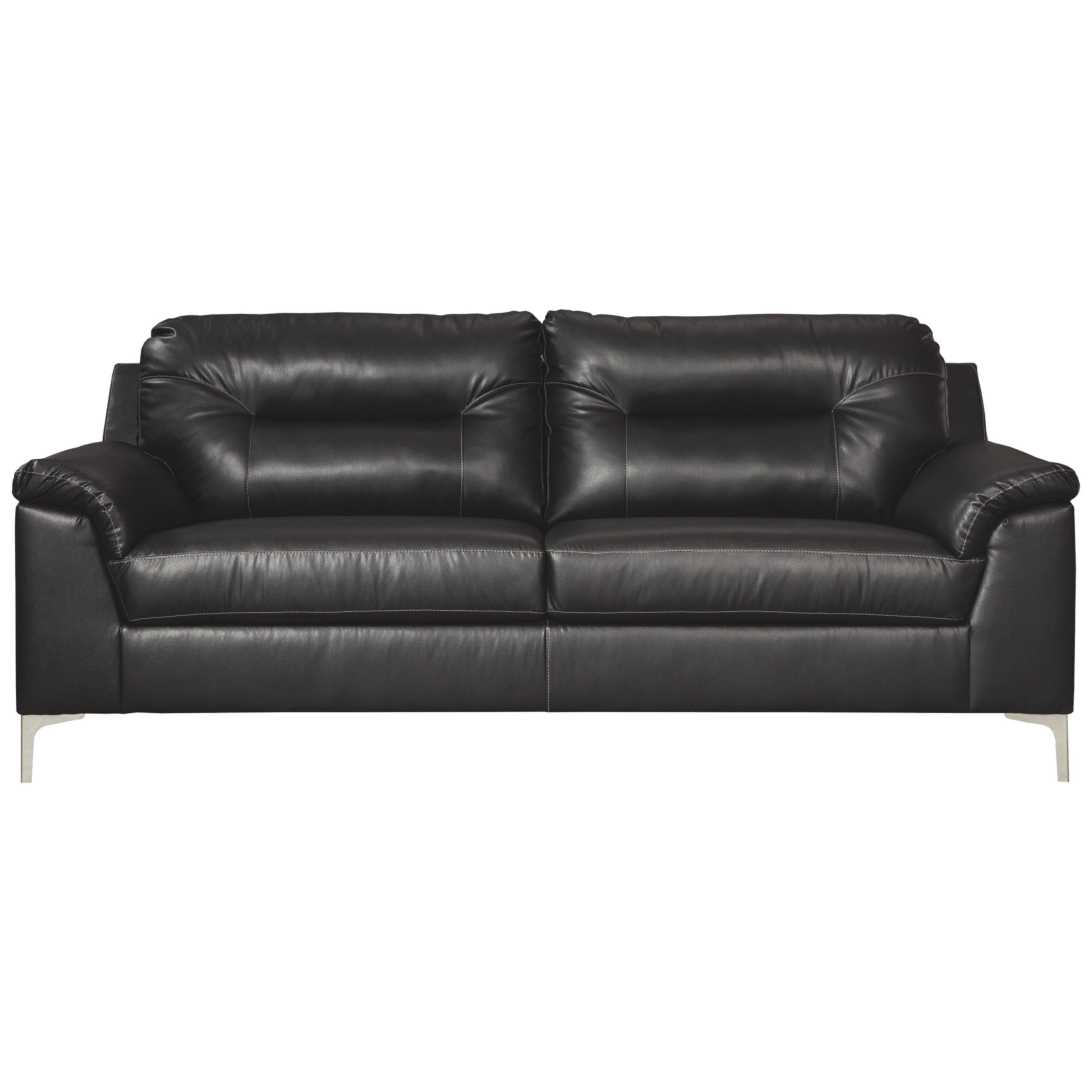 Signature Design by Ashley Tensas Contemporary Black Sofa