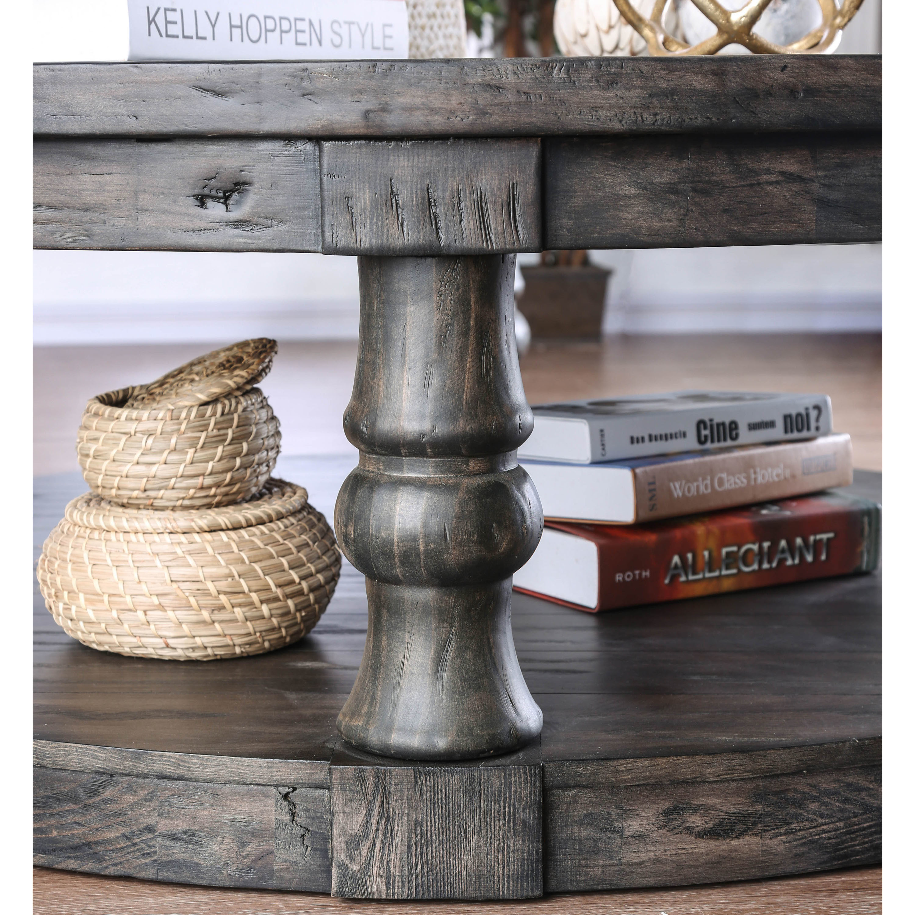 Shop Furniture Of America Patterson Rustic Round Coffee Table   On Sale    Free Shipping Today   Overstock.com   20740181