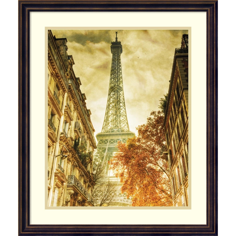 Shop Framed Art Print \'Vintage Eiffel Tower\' by Anon 20 x 24-inch ...