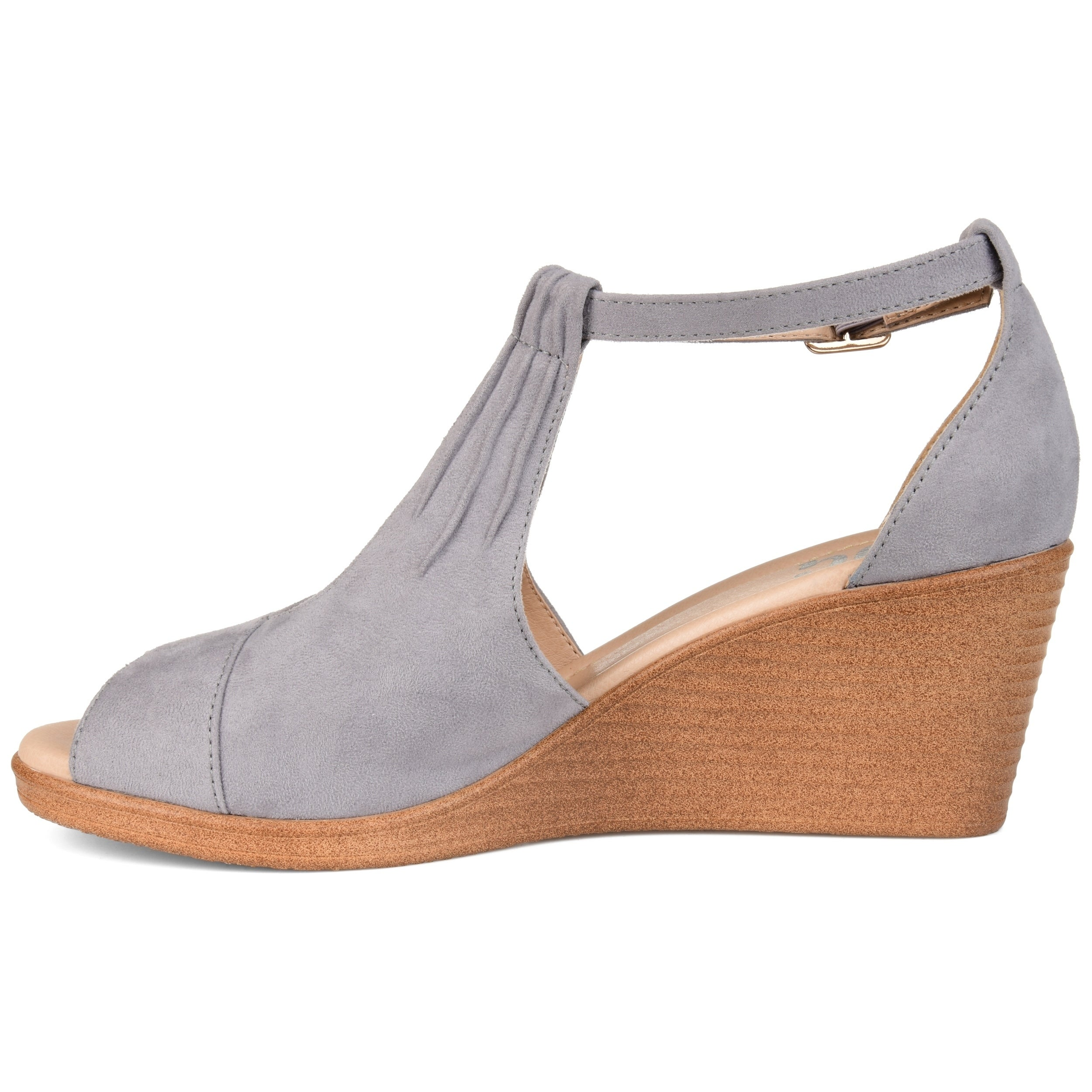 2bf9974c104 Shop Journee Collection Women s  Kedzie  Comfort-sole Center-cut Wedges -  On Sale - Free Shipping Today - Overstock - 20741329