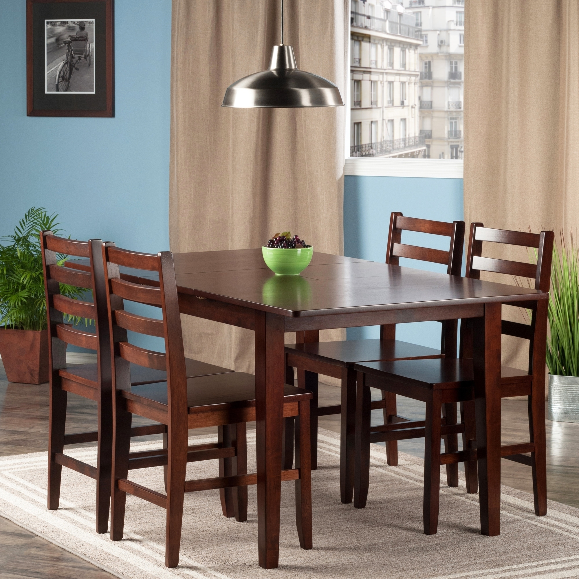 Shop Anna 5 PC Dining Table Set W/ Ladder Back Chairs   Free Shipping Today    Overstock.com   20742219