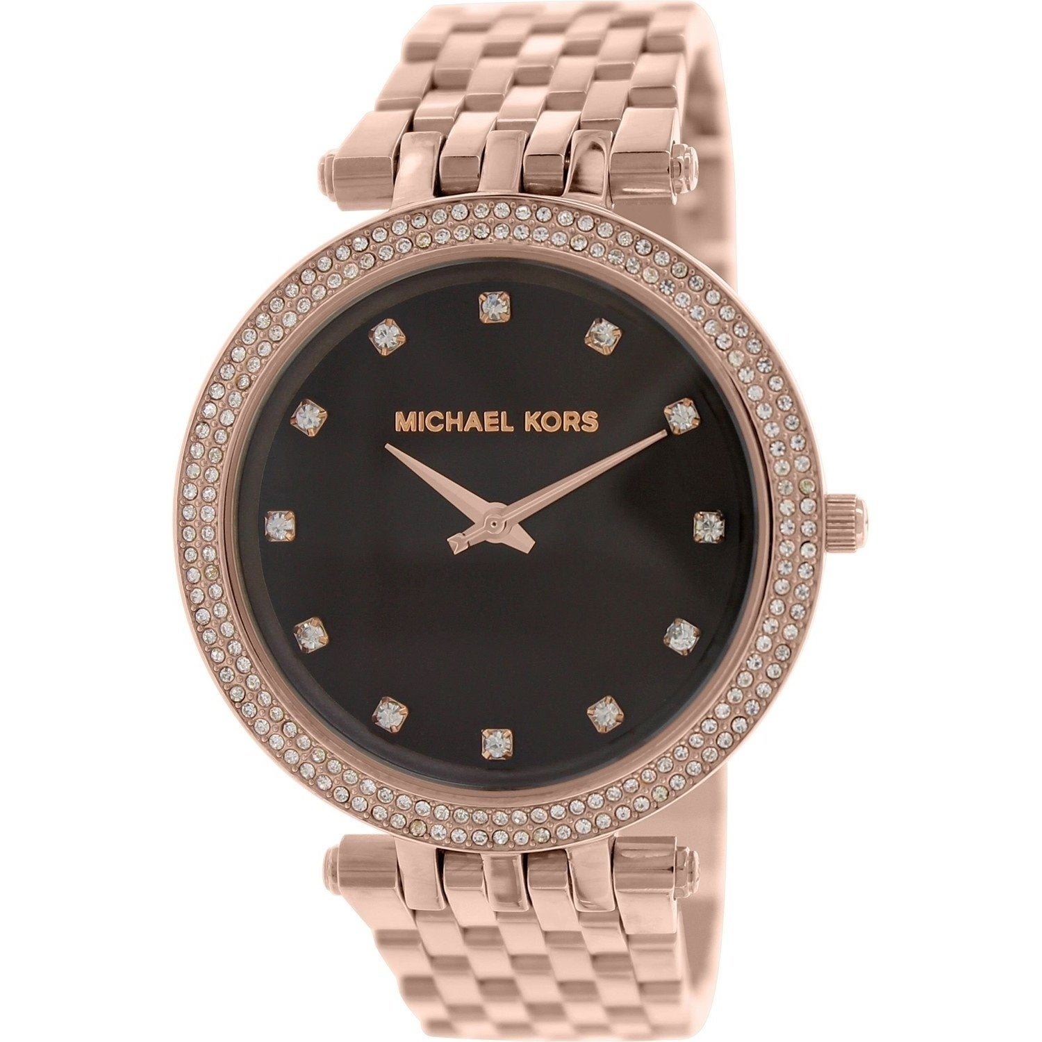 632bbb7ce144 Shop Michael Kors Women s  Darci  Crystal Rose-Tone Stainless Steel Watch -  Free Shipping Today - Overstock - 20742274