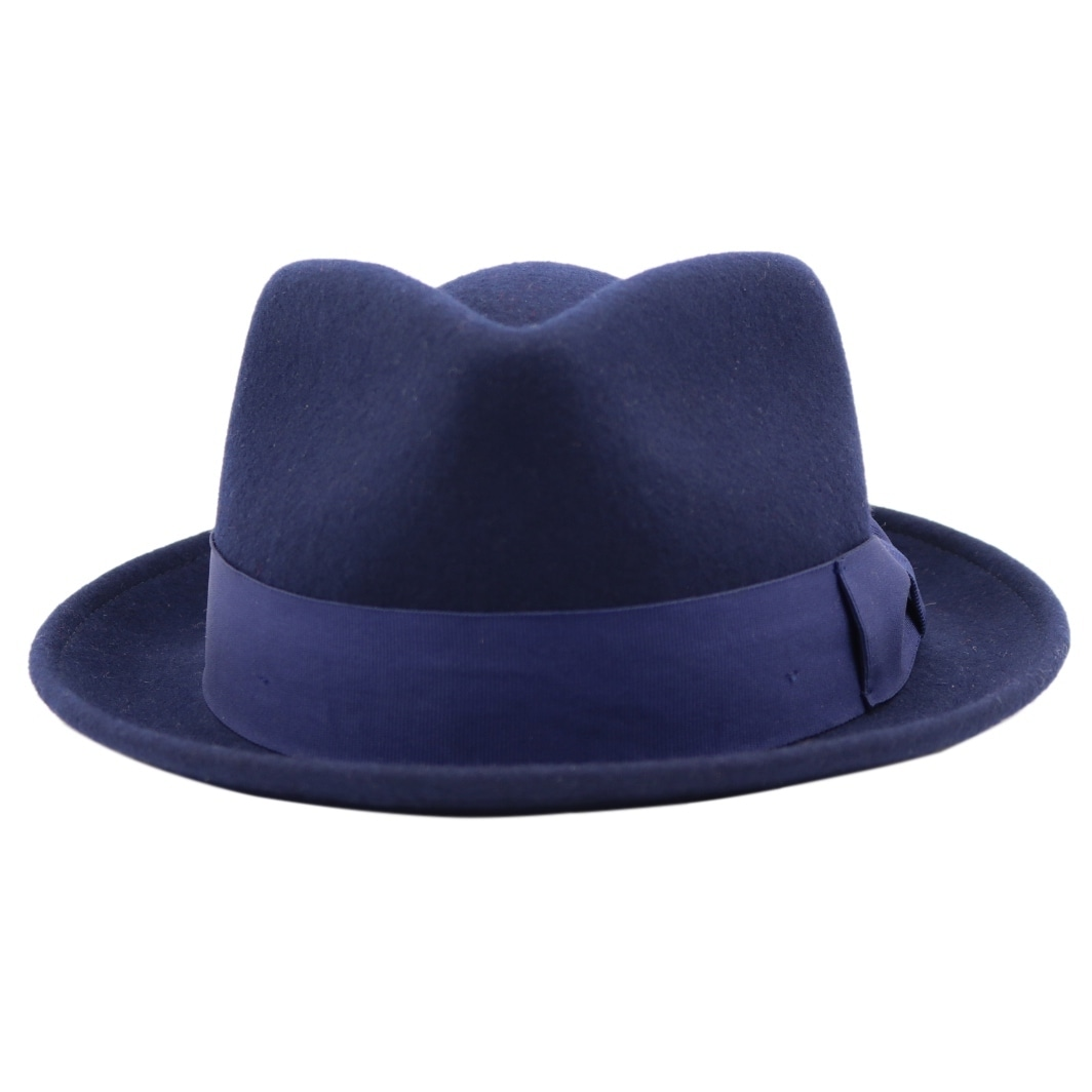 71582a5804b37 Shop Bugsy - 100% Wool Felt Trilby Fedora Style Hat - Free Shipping On  Orders Over  45 - Overstock - 20743472