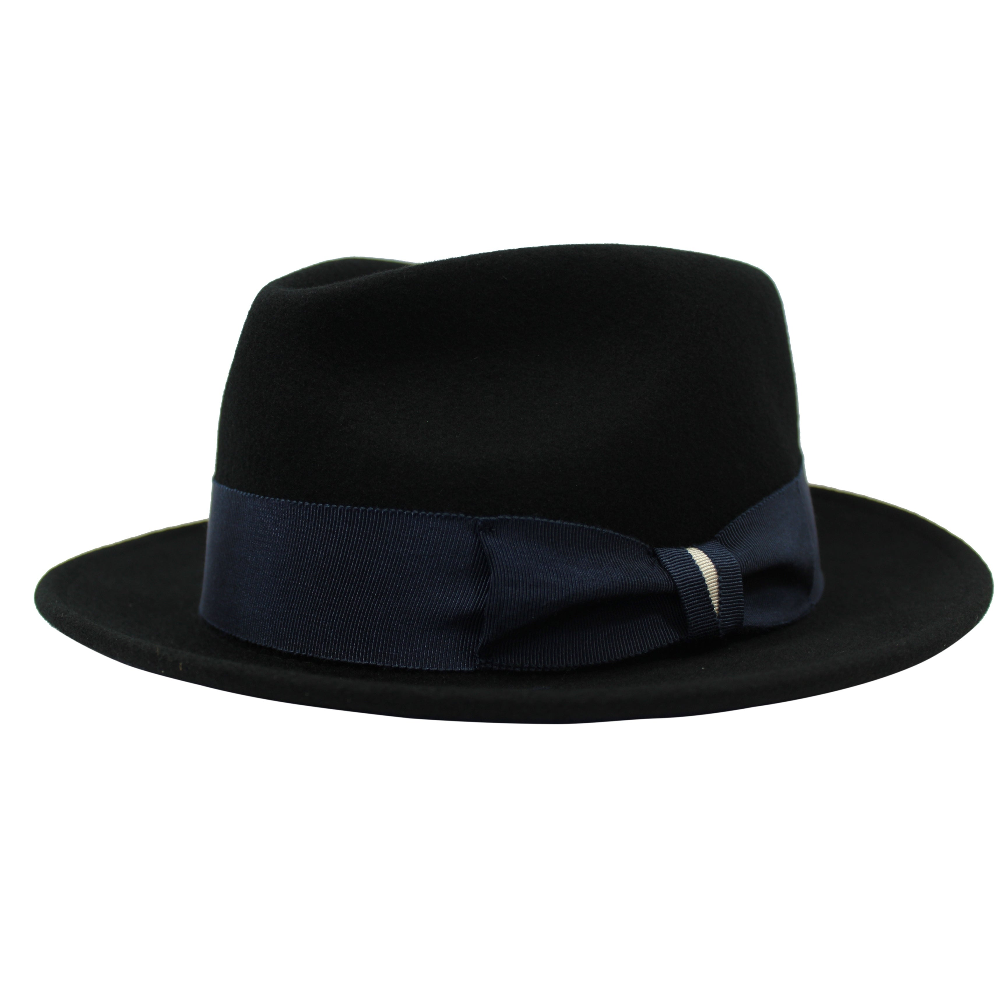 e2f350189ec6e Shop Russell - 100% Wool Felt Stingy Brim Trilby Fedora Style Felt Hat -  Free Shipping On Orders Over  45 - Overstock - 20743859