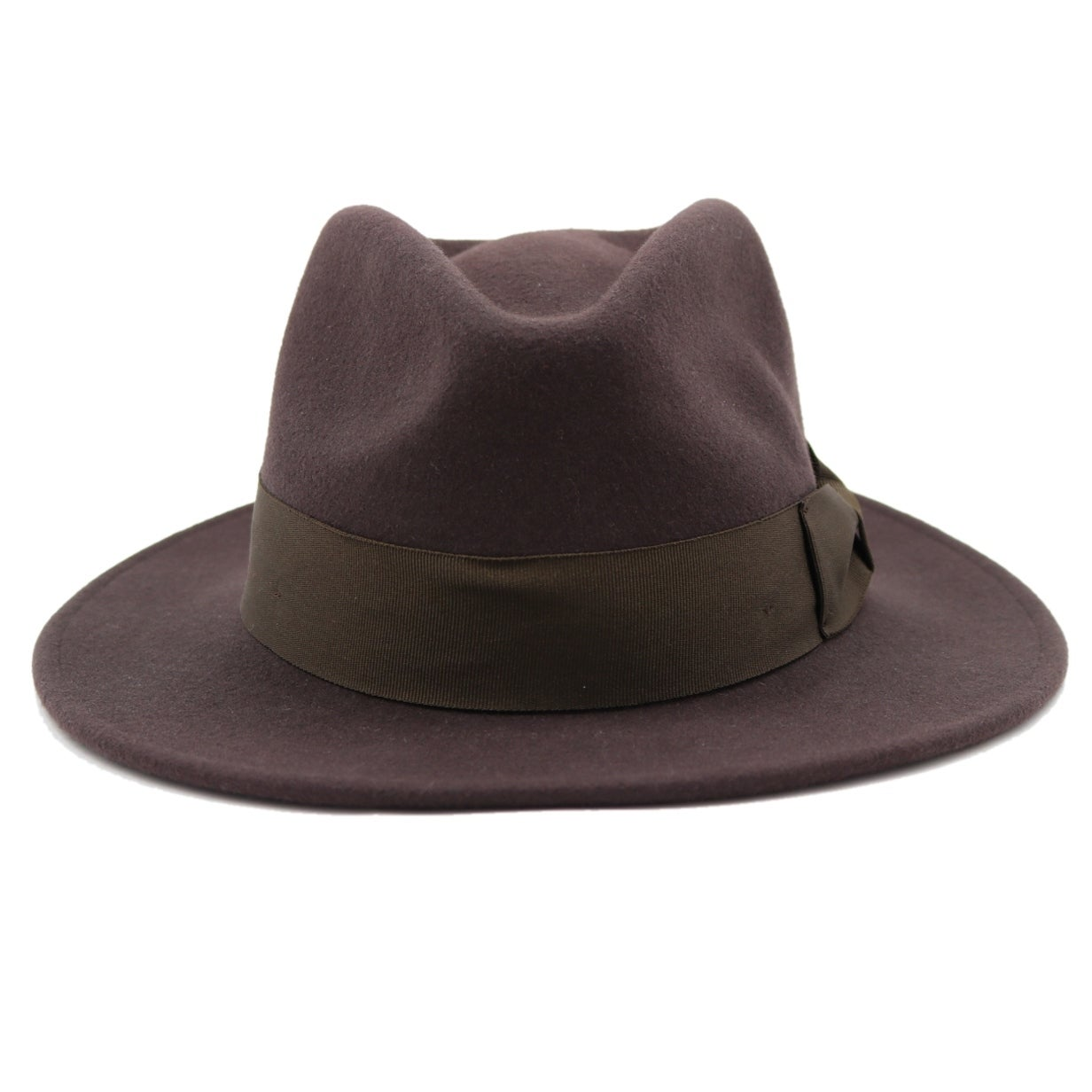 Shop Stefano - 100% Wool Felt Modern-day Stiff Brim Fedora Style Hat - Free  Shipping On Orders Over  45 - Overstock - 20743868 6ad46735c58