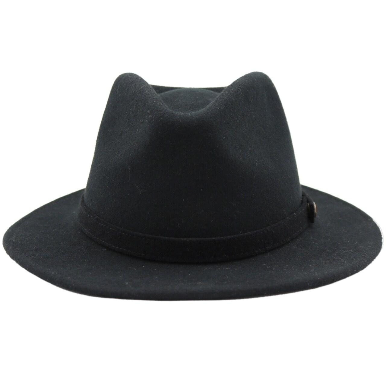 Shop Westly - 100% Wool Felt Modern-day Stiff Brim Fedora Style Felt Hat -  Free Shipping On Orders Over  45 - Overstock.com - 20743877 e35a06c8c84