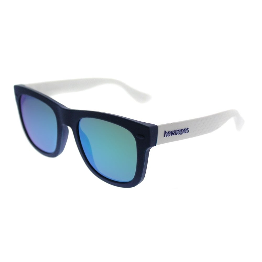 b9d98ea0c00c Shop Havaianas Square Paraty M QMB Z9 Unisex Blue White Frame Green Mirror  Lens Sunglasses - Free Shipping Today - Overstock - 20747699