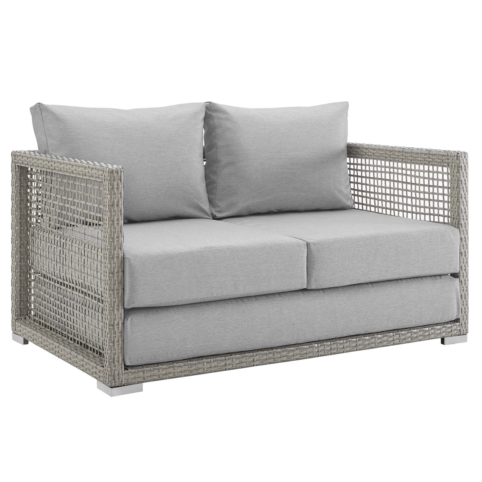 outdoor patio sea cushion tortuga zm loveseat pines lex wicker