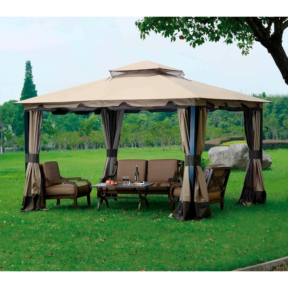 Sunjoy Replacement Canopy Set For L Gz215pst 4 10x12 Monterey Gazebo Ships To Canada Ca 20749041