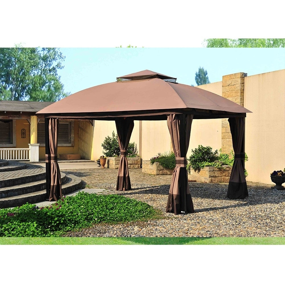 Sunjoy Replacement Canopy Set For L Gz215pst A 11x13 South Hampton Gazebo Ships To Canada Ca 20749063
