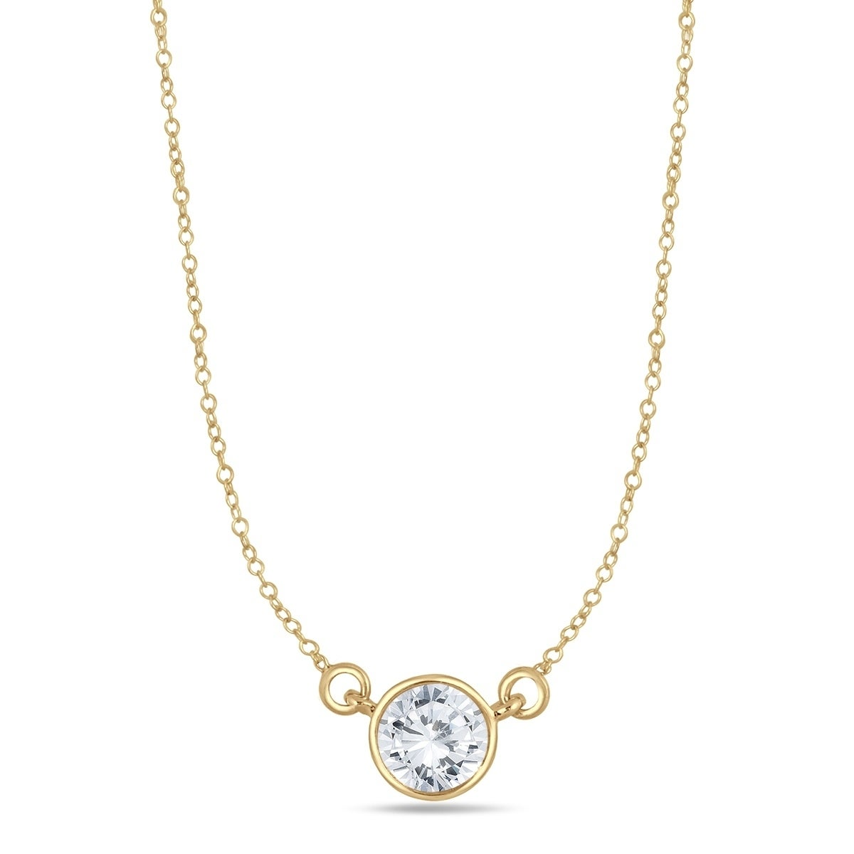 a3a0e15935b3de Shop 3/4 Carat Diamond Bezel Pendant in 14K Yellow Gold - On Sale - Free  Shipping Today - Overstock.com - 20750261