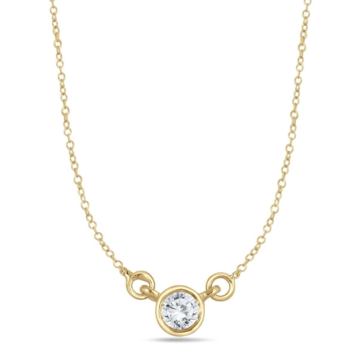14 carat diamond bezel pendant in 14k yellow gold free shipping 14 carat diamond bezel pendant in 14k yellow gold free shipping today overstock 26572571 aloadofball Choice Image