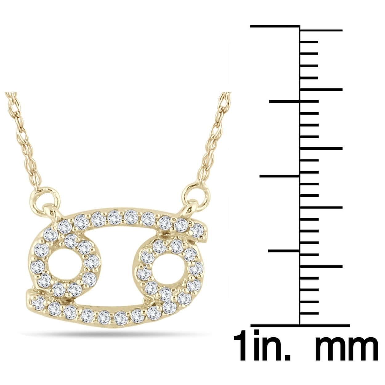 eda911862 Shop 1/3 Carat TW Diamond Cancer Zodiac Pendant 10K Yellow Gold - On Sale -  Free Shipping Today - Overstock - 20751886