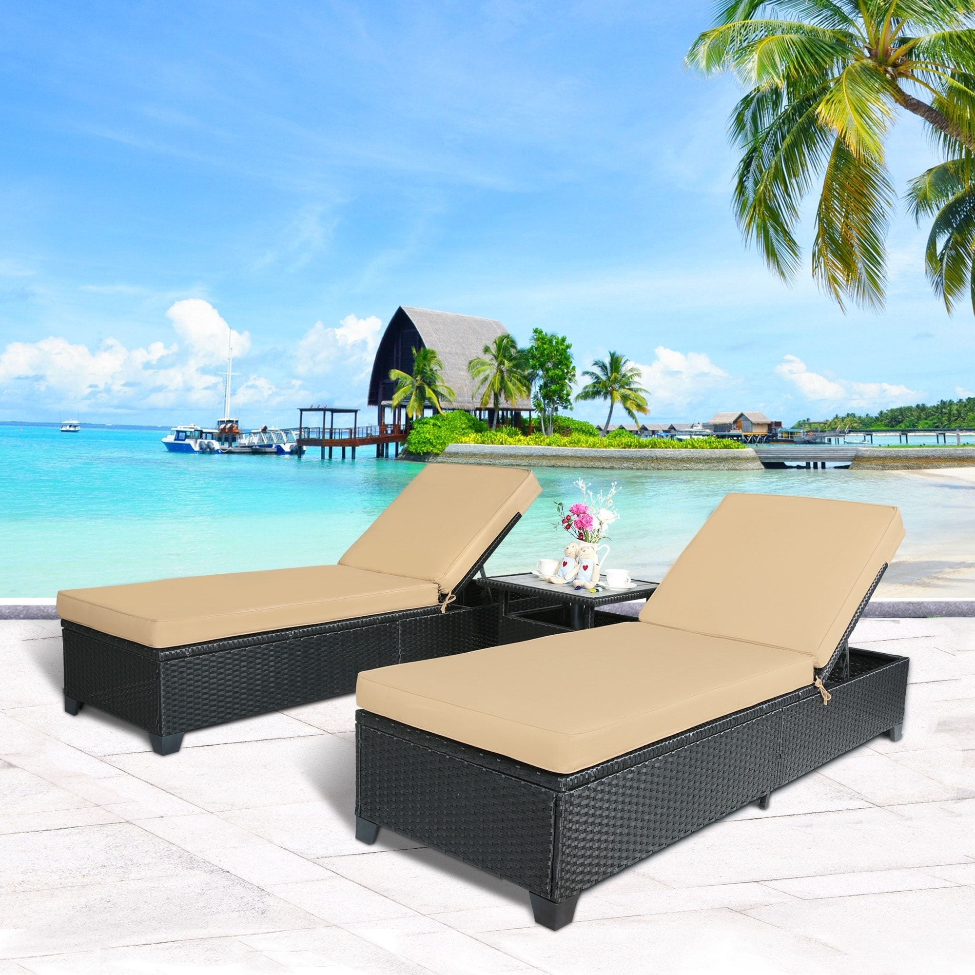 daybed outdoor sunlounger project chaise lounger lounge magic china product furniture hotel garden style patio double wicker rattan evcnjdxabycn