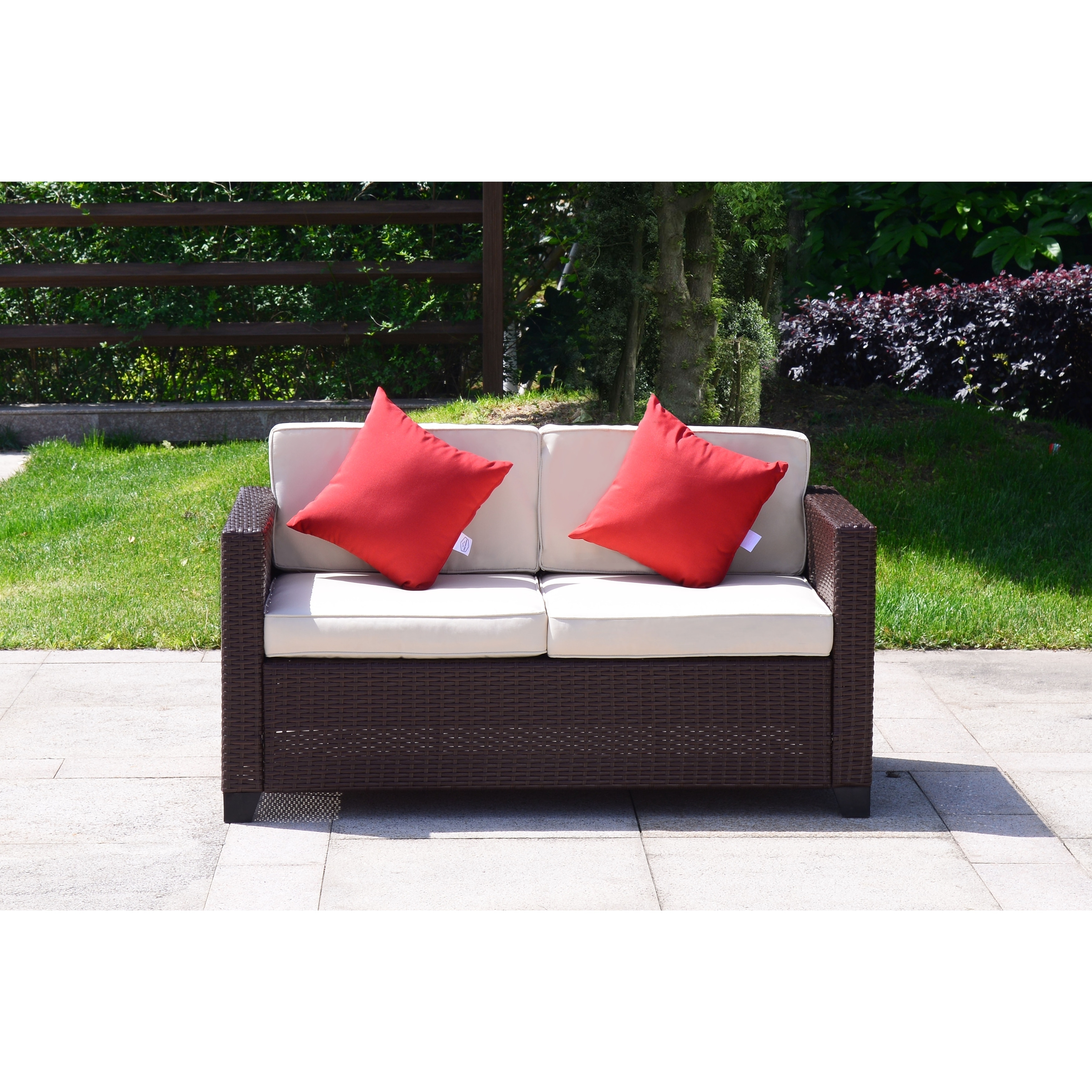 outdoor pdx reviews sunbrella cushions teak cushion studio wayfair with yandell loveseat patio brayden