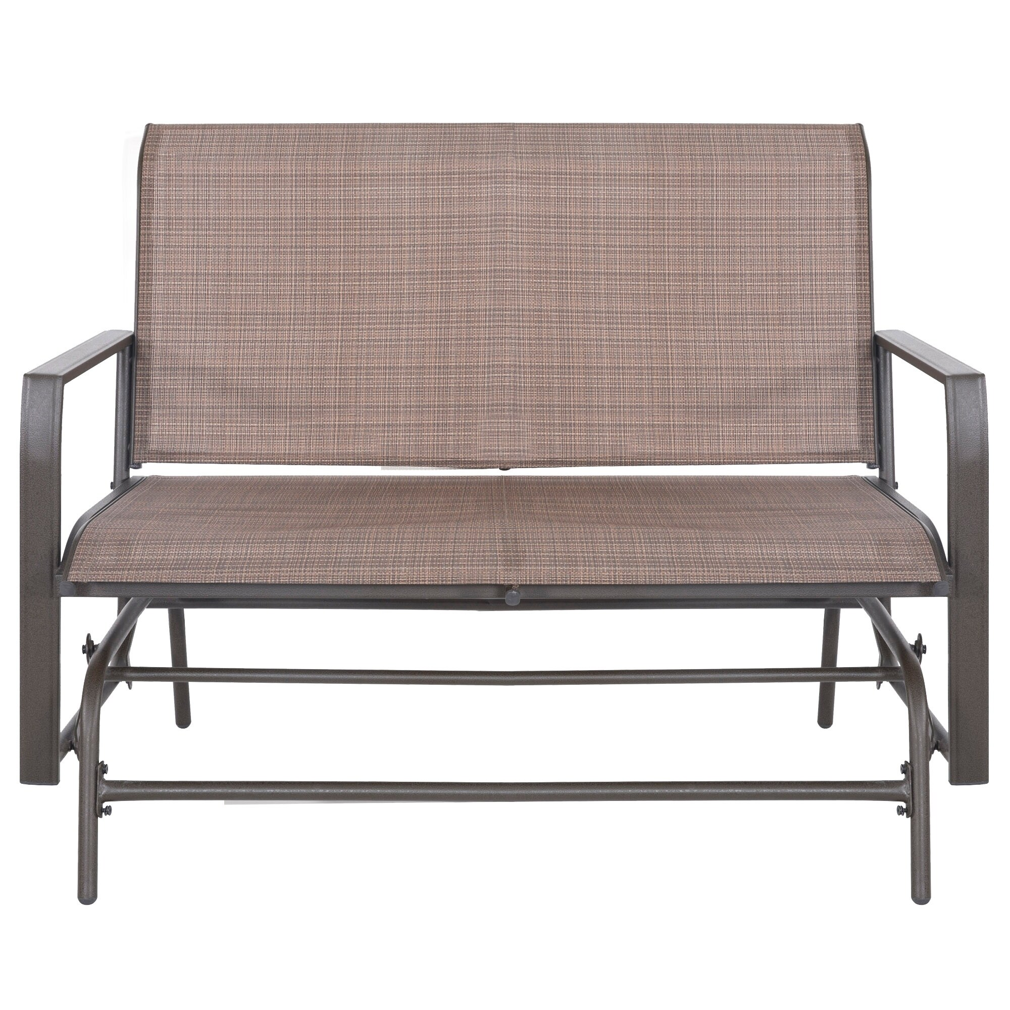 Patio Glider Bench Outdoor 2 Person Swing Loveseat Rocking Seating Rocker Lounge Chair Tan On Free Shipping Today