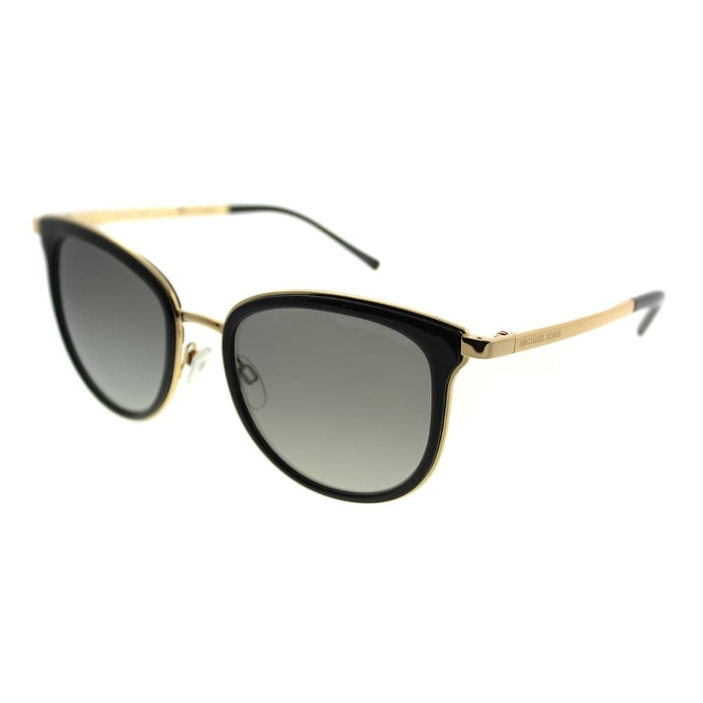 dba97107df Shop Michael Kors Cat-Eye MK 1010 Adrianna I 110011 Unisex Black Gold Frame  Grey Lens Sunglasses - Free Shipping Today - Overstock - 20755935