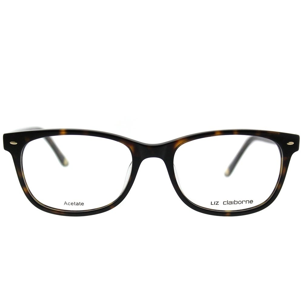 Liz Claiborne Rectangle 607 086 Women Dark Havana Frame Eyeglasses ...
