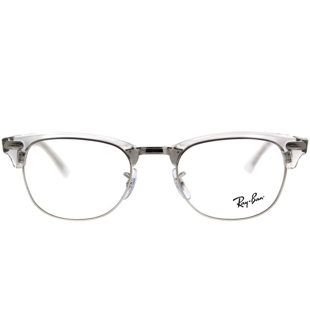 Shop Ray-Ban Clubmaster RX 5154 Clubmaster 2001 Unisex White Transparent  Frame Eyeglasses - Free Shipping Today - Overstock.com - 20755962 9c0bc46257d1