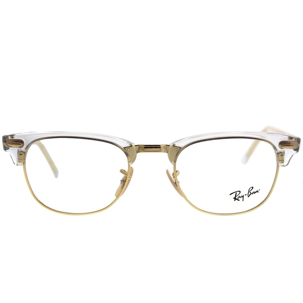 3b8caa930 Shop Ray-Ban Clubmaster RX 5154 Clubmaster 5762 Unisex Transparent Frame  Eyeglasses - Free Shipping Today - Overstock - 20755968