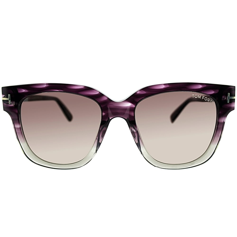 6de81ec0dc9b Shop Tom Ford Square TF 436 Tracy 83T Womens Violet Melange Frame Grey  Gradient Lens Sunglasses - Free Shipping Today - Overstock - 20756010