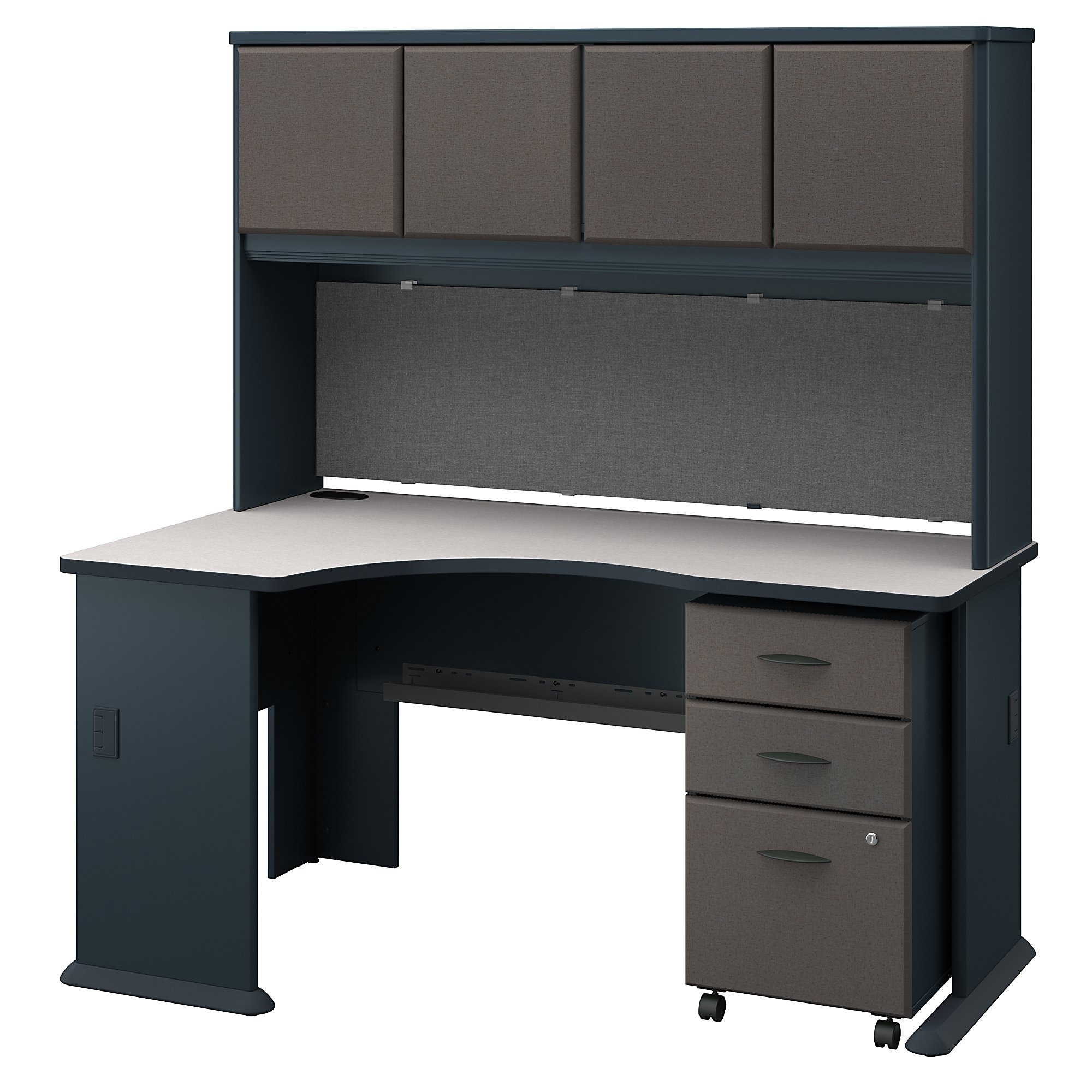Charmant Shop Series A Left Corner Desk With Hutch And Mobile File Cabinet In Slate    Free Shipping Today   Overstock.com   20757166