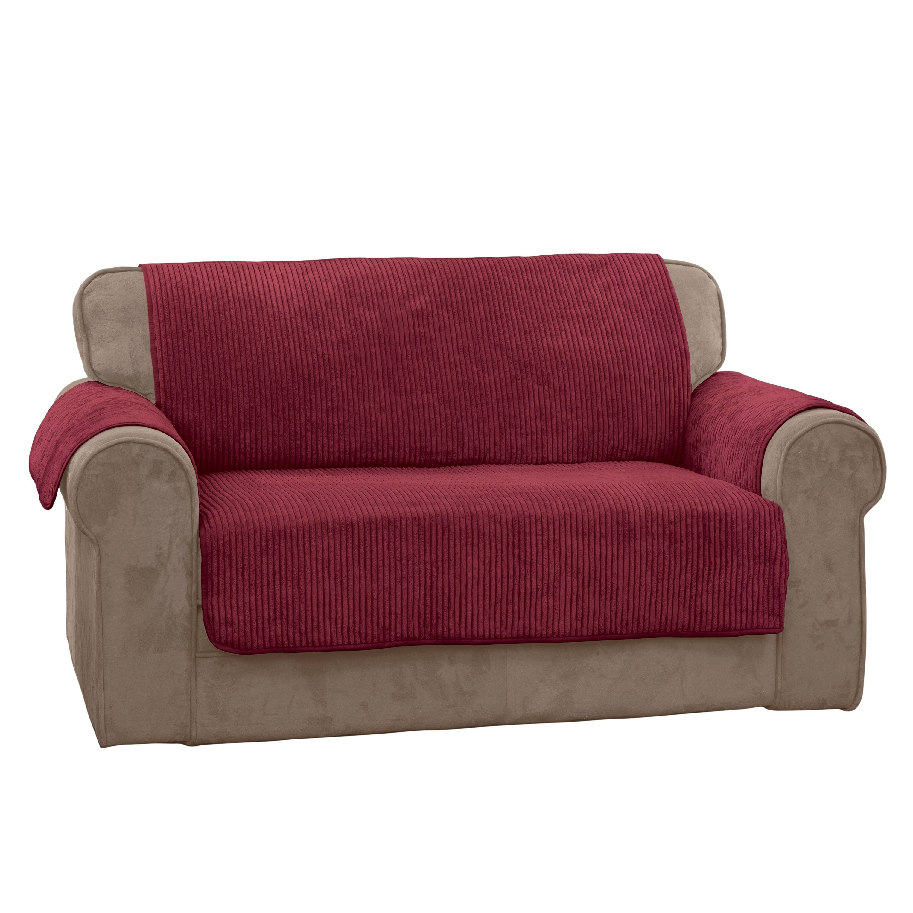 Shop Innovative Textile Solutions Plush Solid Stripe Sofa Slipcover   Free  Shipping On Orders Over $45   Overstock.com   20759081