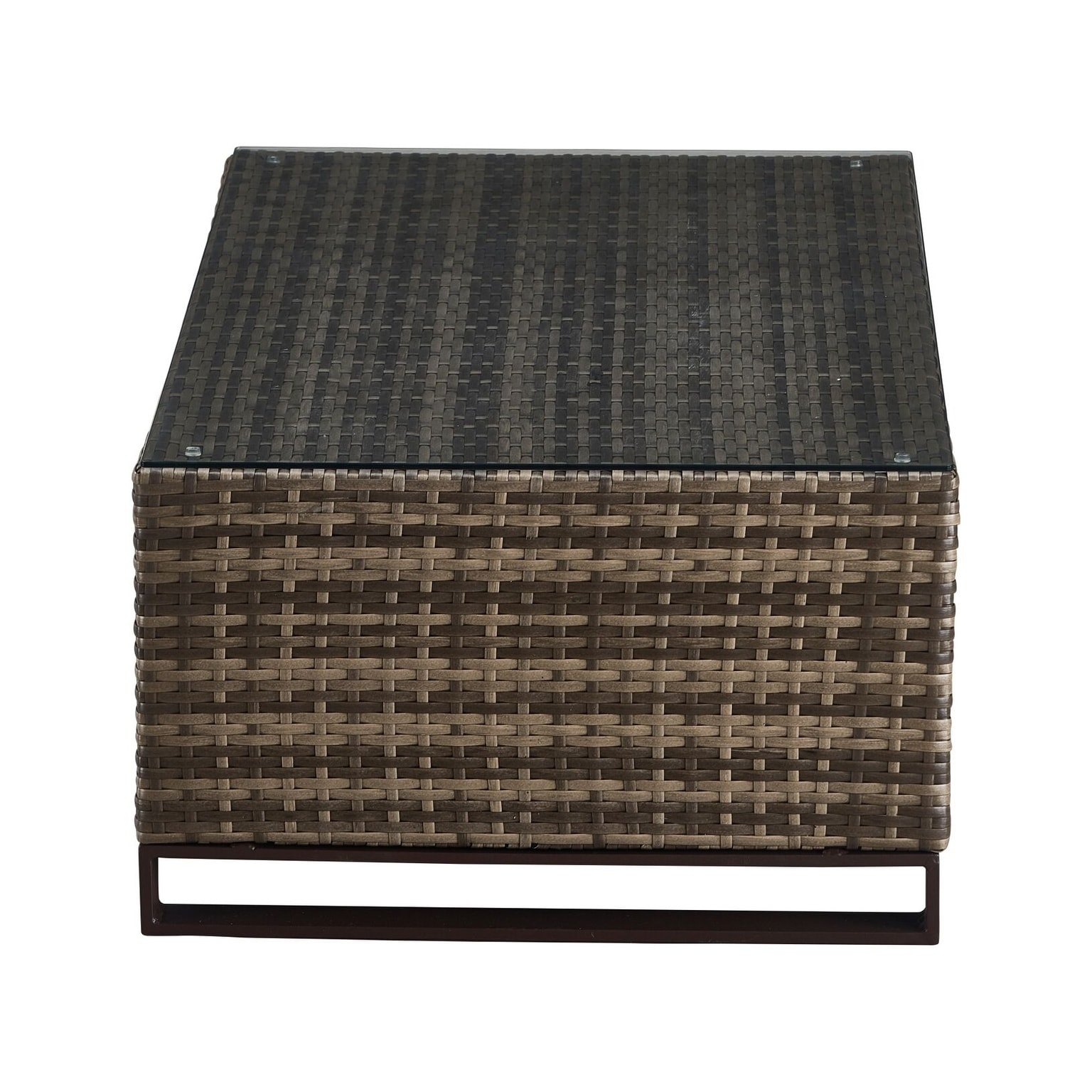 Tommy Hilfiger Oceanside Outdoor Coffee Table with Storage Gray