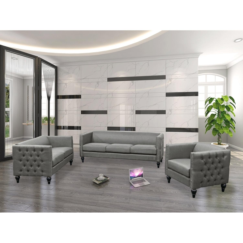 Shop Best Master Furniture Tufted Living Room Loveseat - Free ...